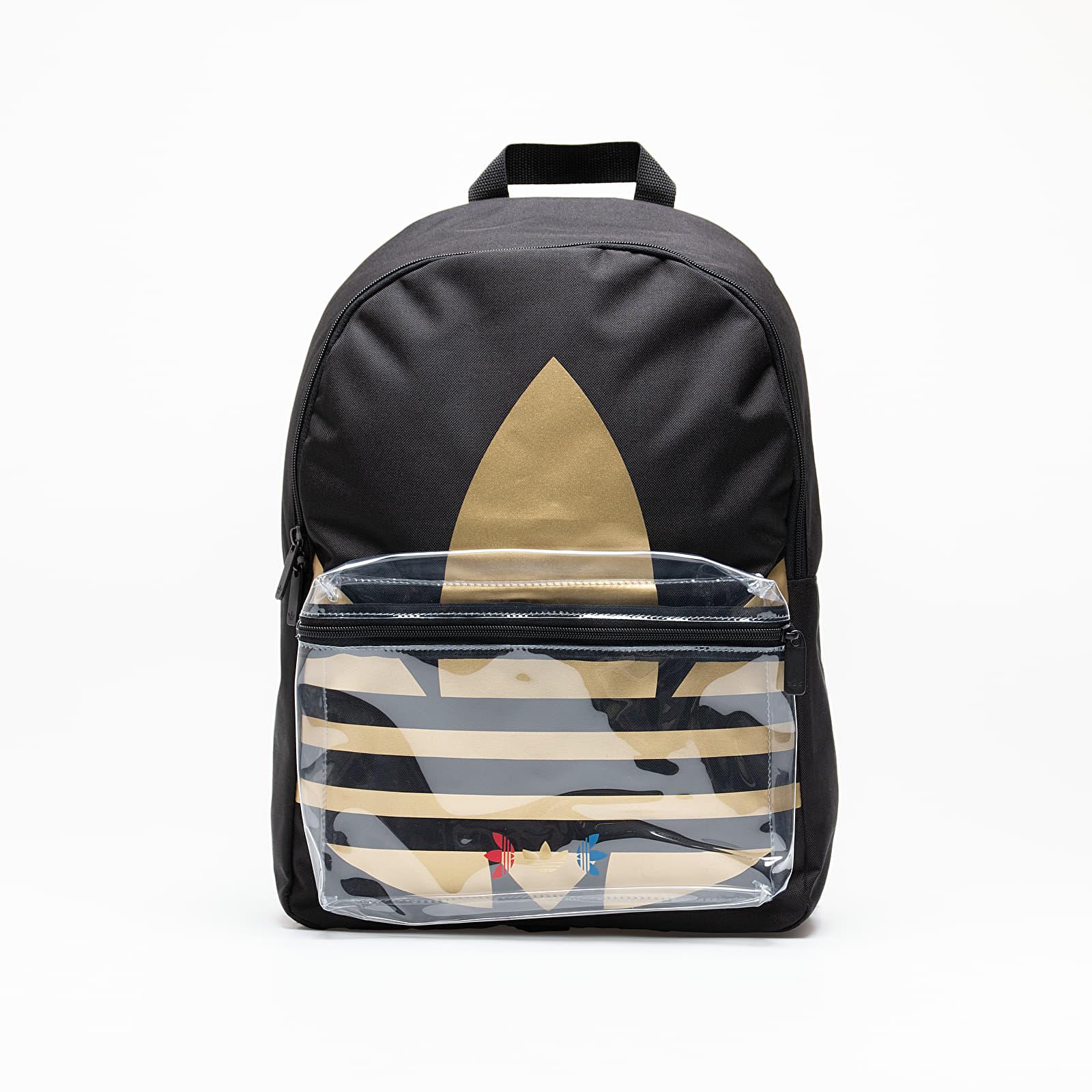 Hátizsákok adidas Large Trefoil Backpack Black/ Golden Metallic