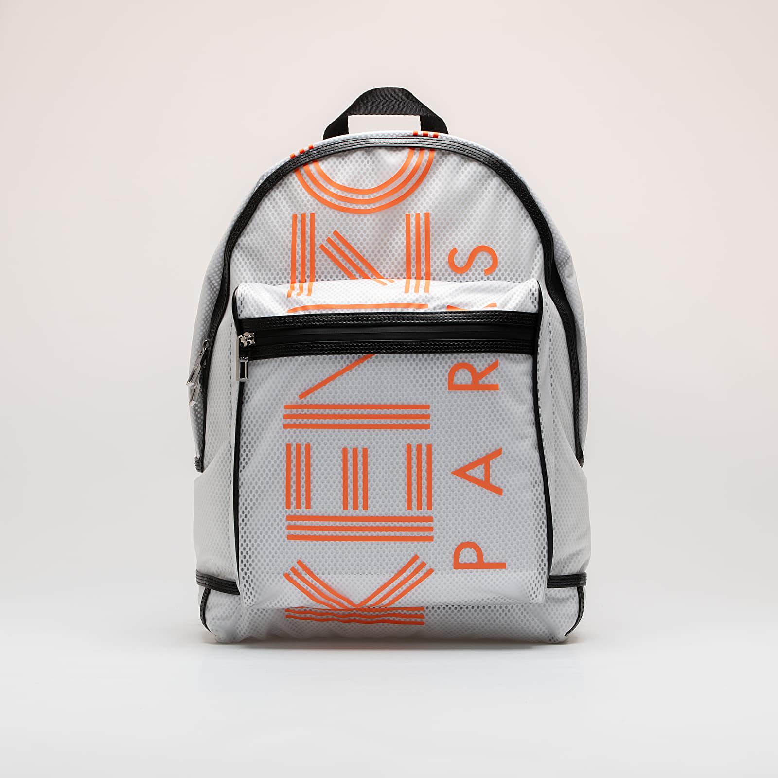Backpacks KENZO Paris Large Rucksack White/ Orange