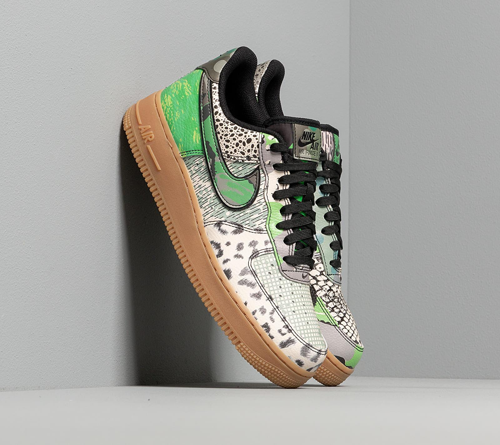 Nike Air Force 1 '07 QS Black/ Black-Green Spark-Gum Light Brown EUR 42.5