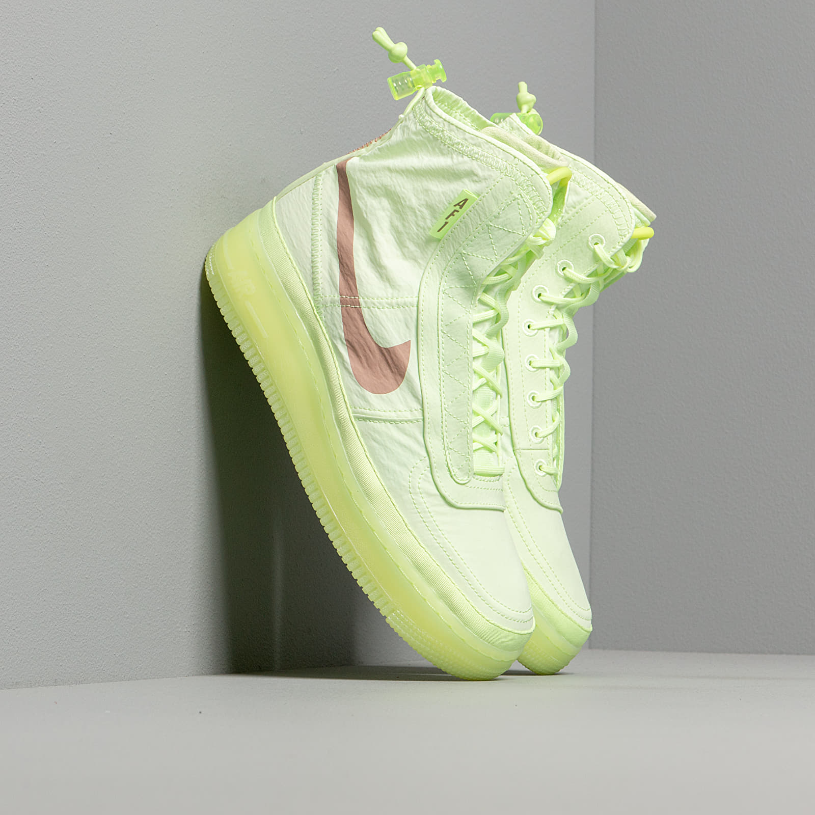 Women's shoes Nike W Air Force 1 Shell Barely Volt/ Desert Dust-Barely Volt