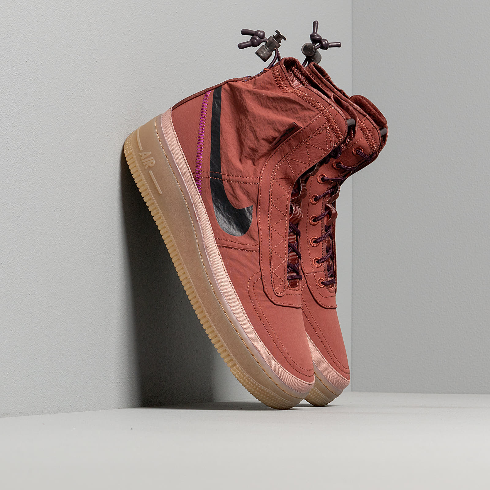 Women's shoes Nike W Air Force 1 Shell Dark Pony/ Burgundy Ash-Desert Dust