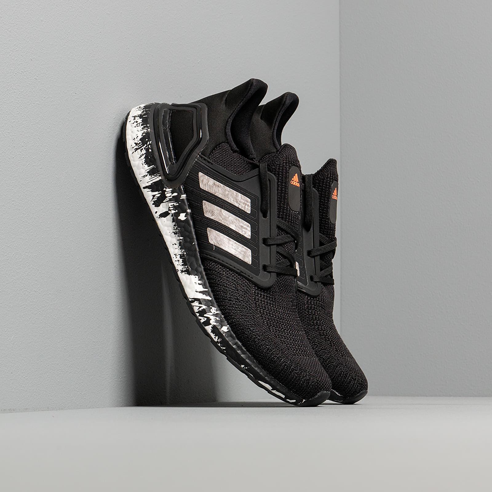 Férfi cipők adidas UltraBOOST 20 Core Black/ Ftw White/ Signature Coral