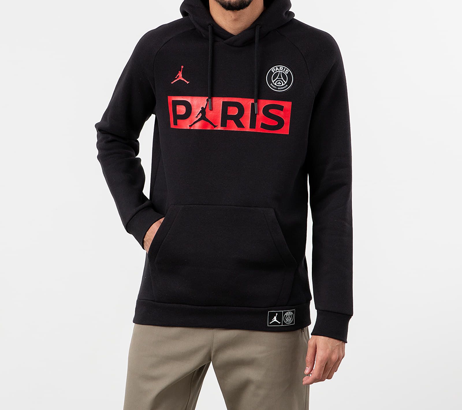 Jordan Paris Saint-Germain Jumpman Fleece Hoodie Black/ University Red