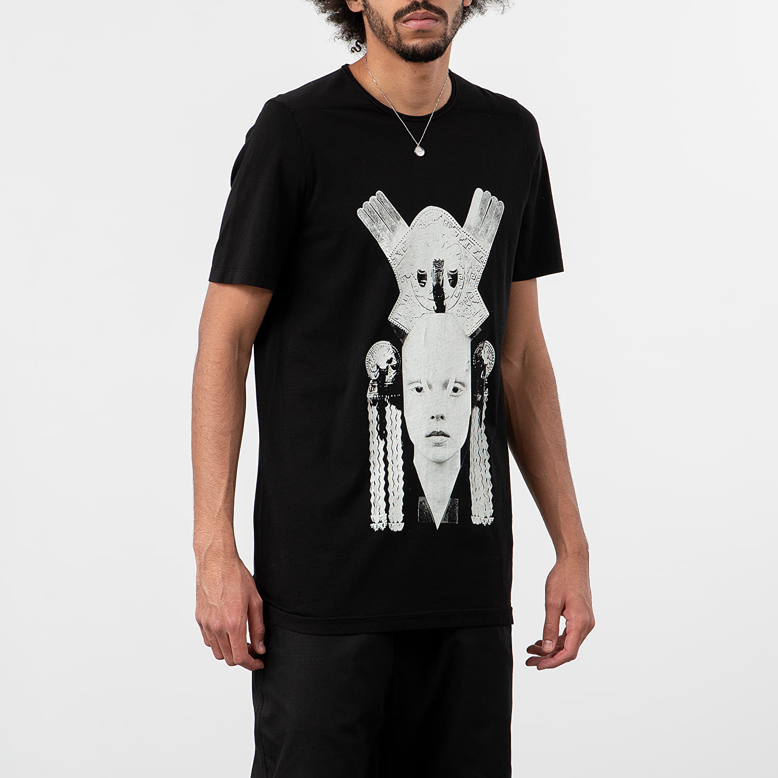 T-shirts Rick Owens Level Tee Black/ Pearl