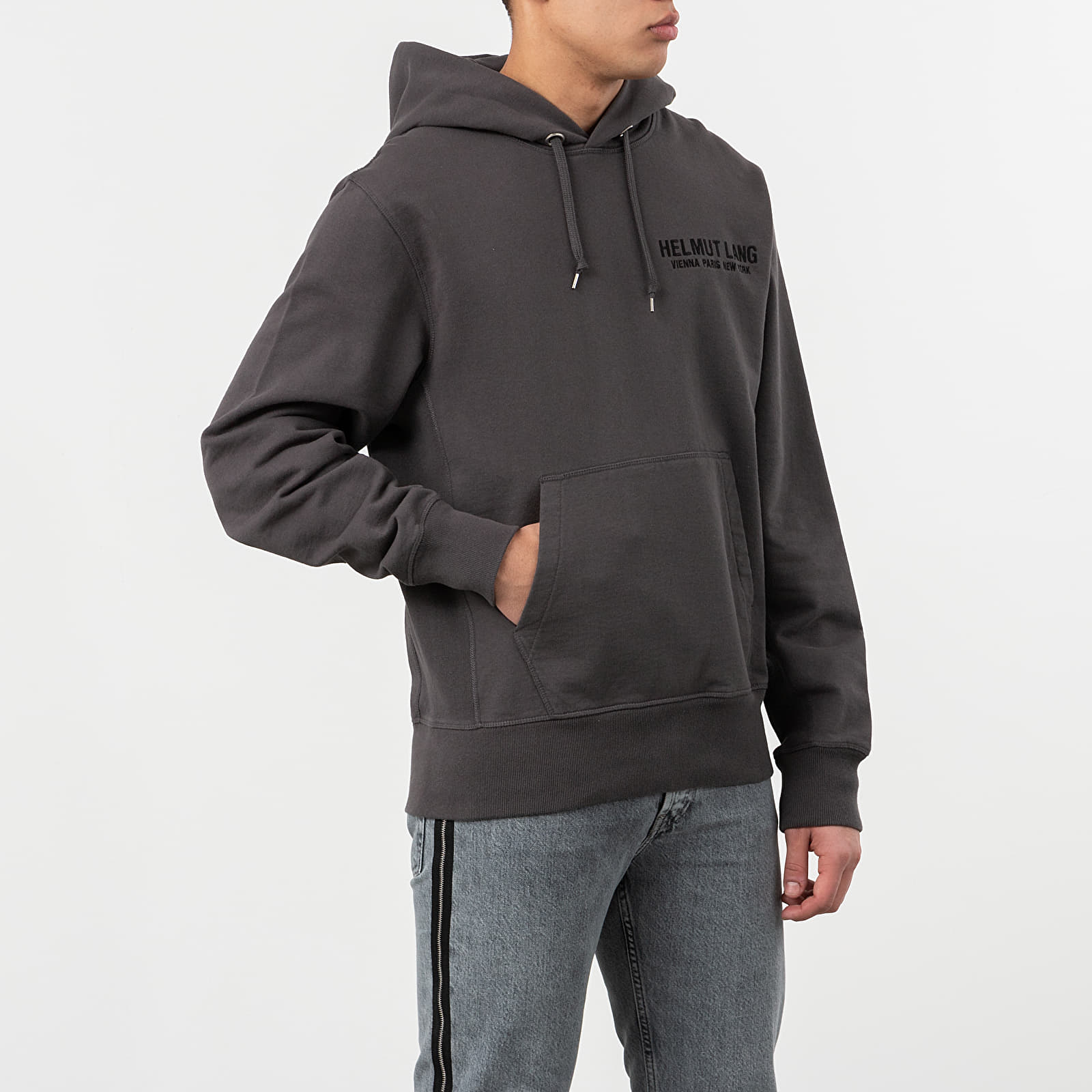 Mikiny a svetry HELMUT LANG Eagle Boy Hoodie Pewter