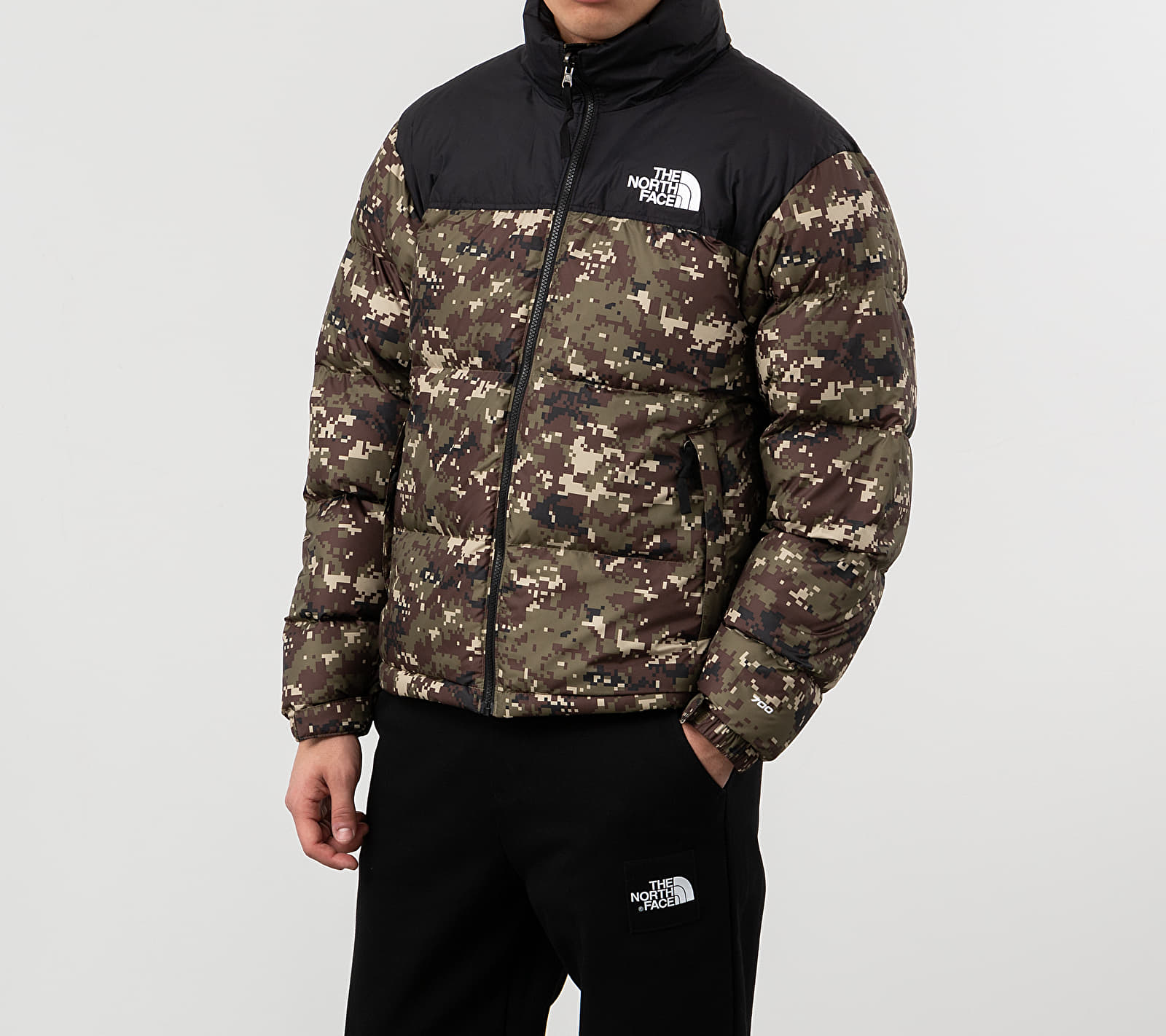 The North Face 1996 Retro Nuptse Jacket Camo, Brown