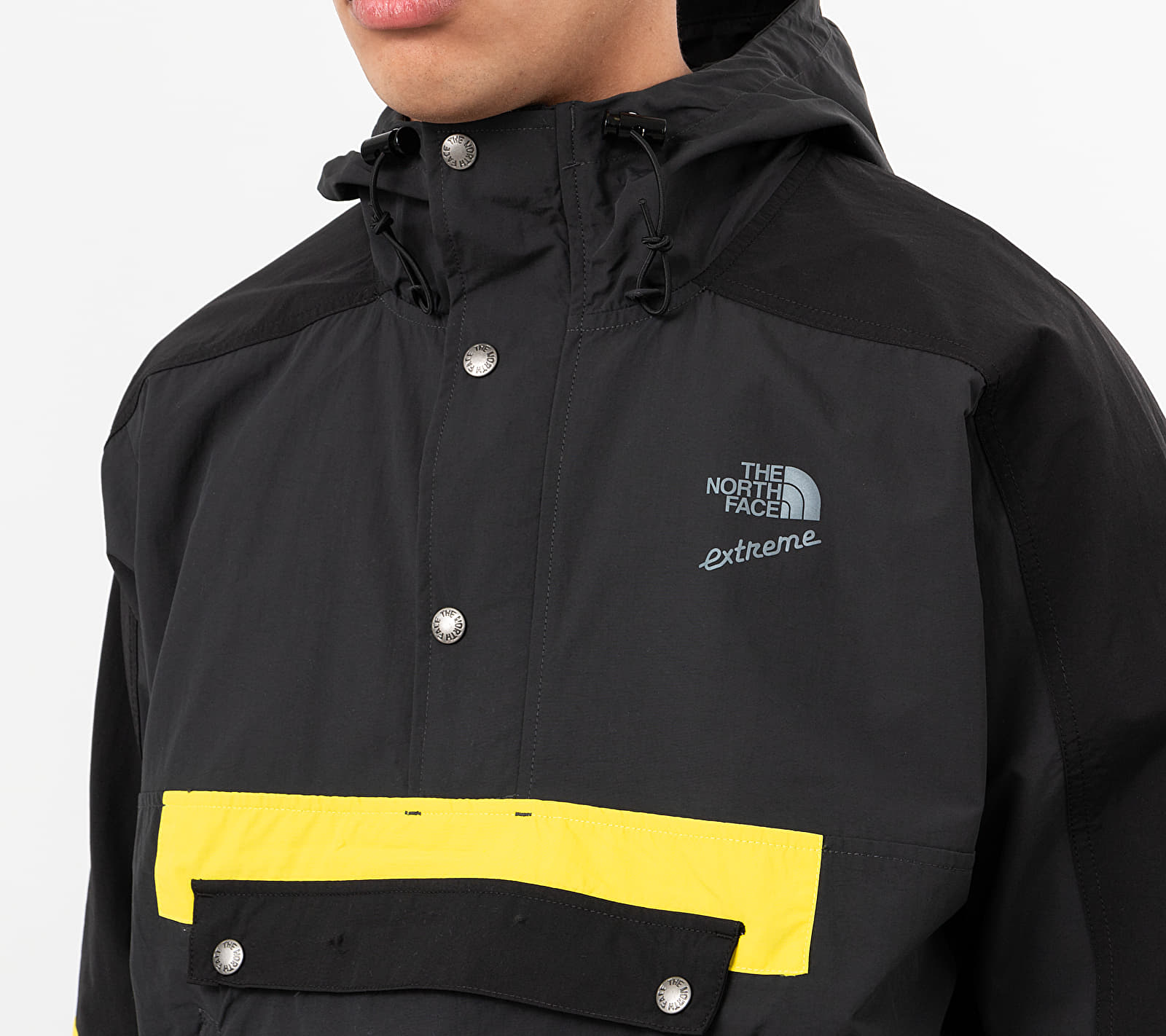 The North Face Extreme Wind Anorak Jacket Asphalt Grey Combo, Gray
