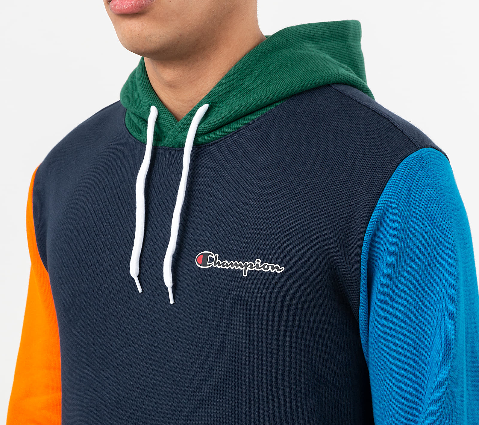 Champion Contrast Colour Block Hoodie Multicolor, Multicolour