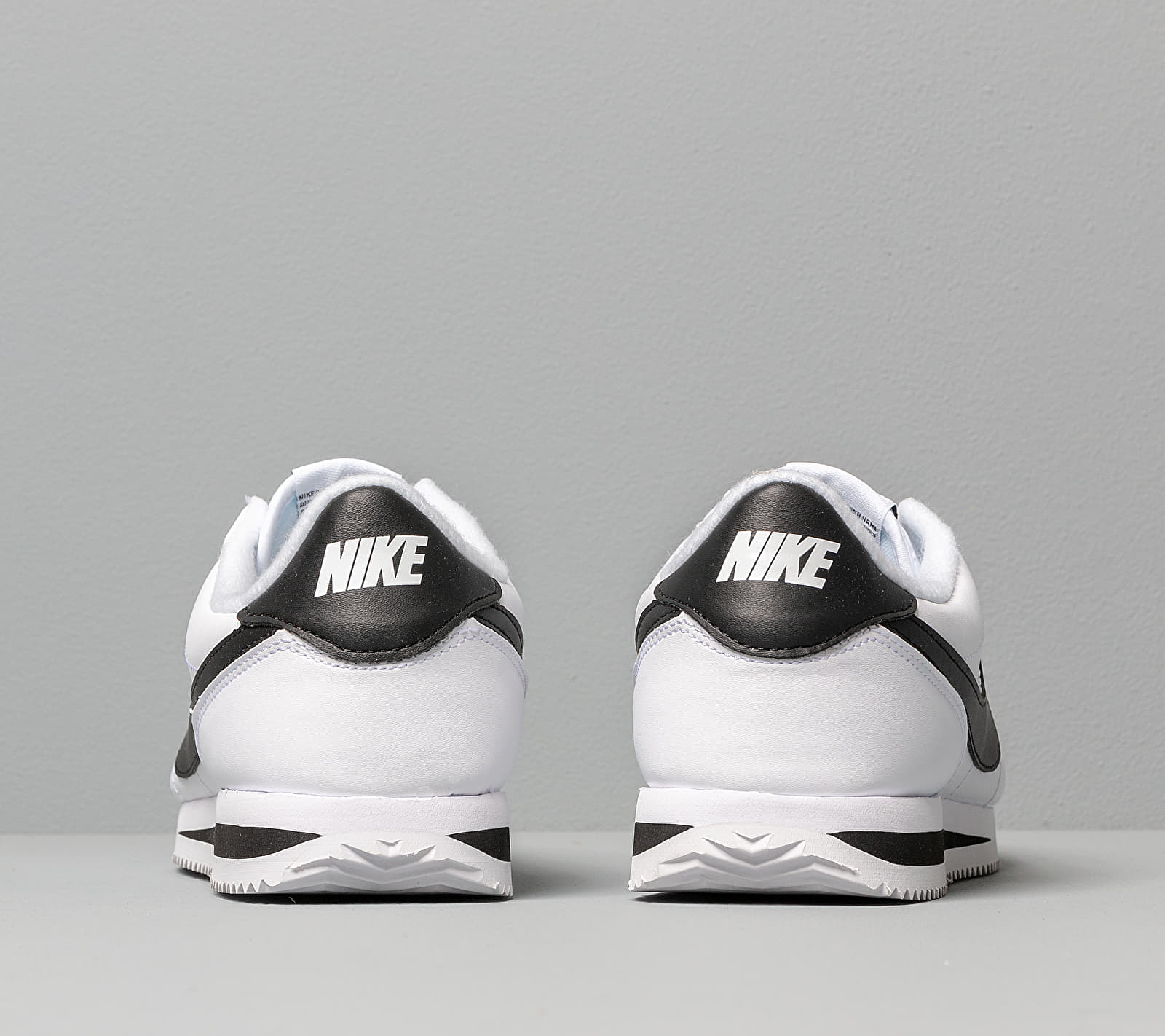 Nike Cortez Basic Leather White/ Black-Metallic Silver