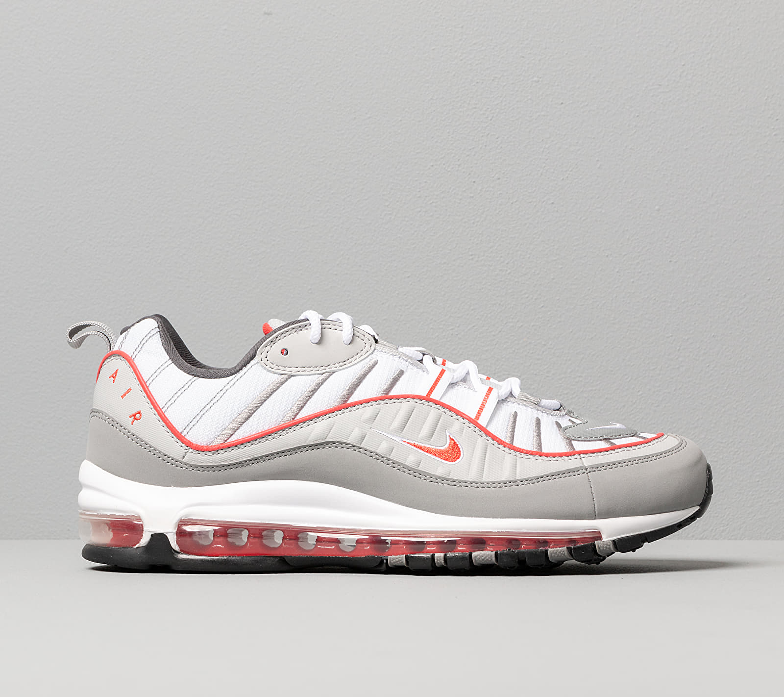Nike Air Max 98 Particle Grey/ Track Red-Iron Grey, Gray