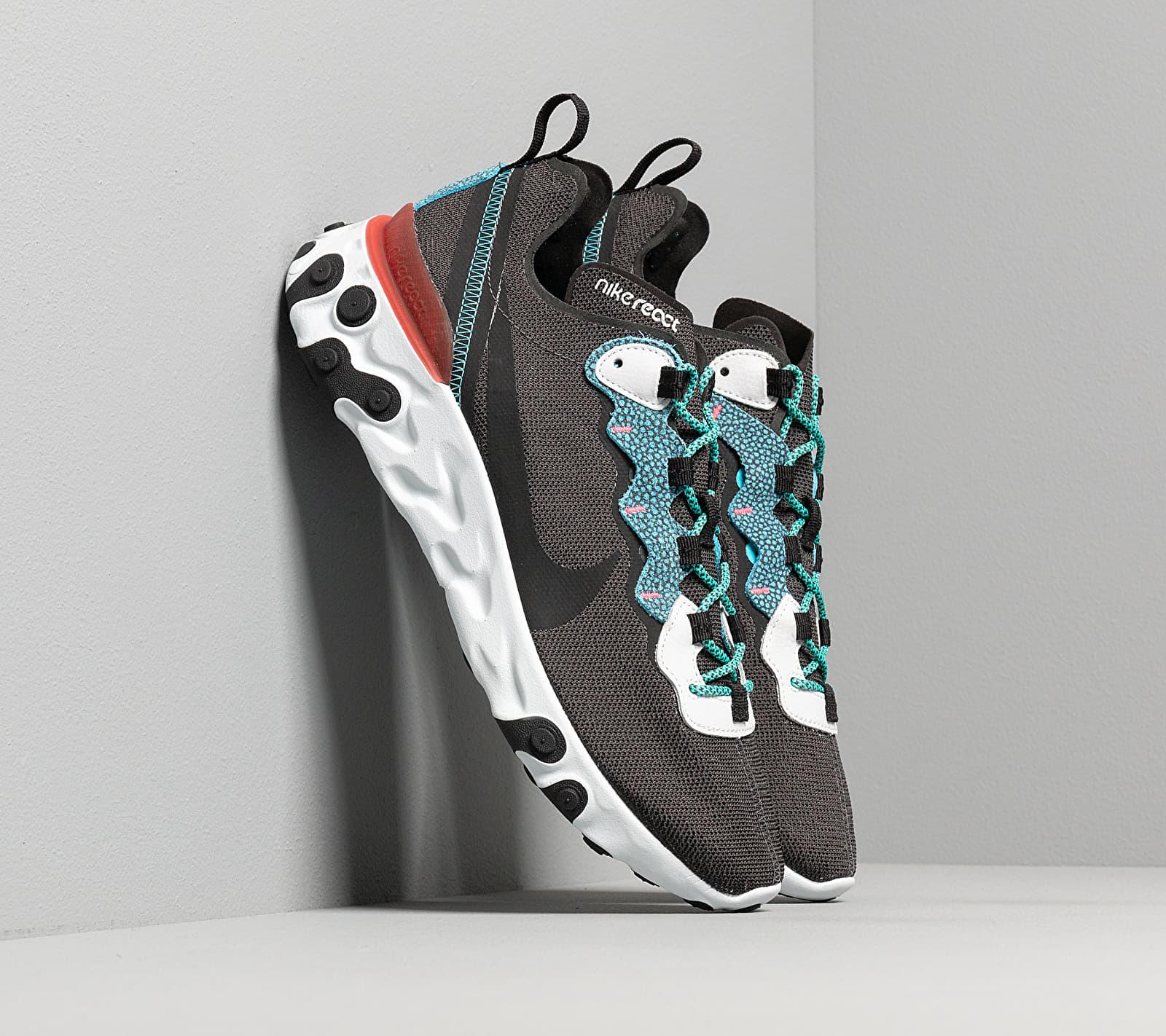 Nike React Element 55 Se Anthracite/ Blue Fury-Pure Platinum, Gray