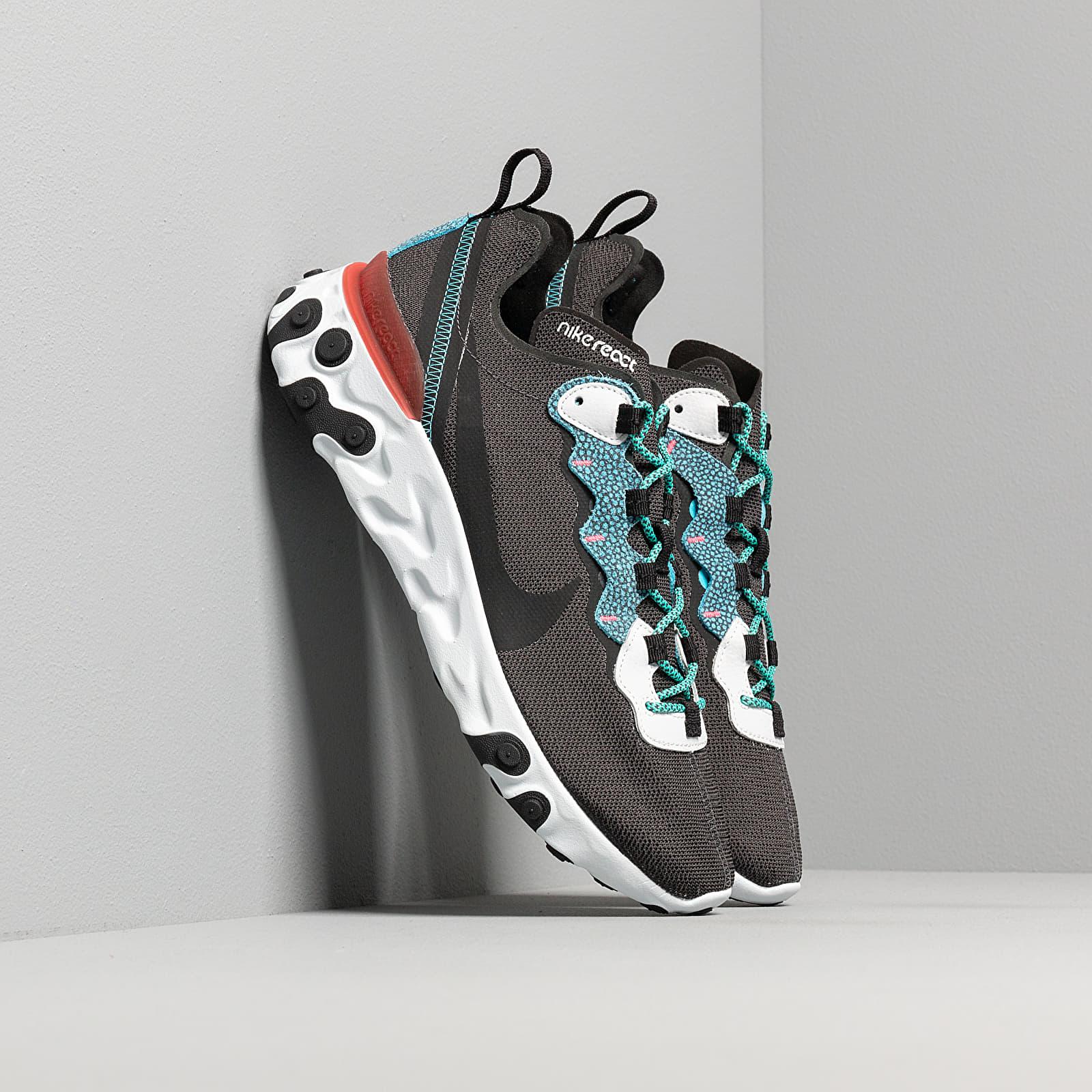 Férfi cipők Nike React Element 55 Se Anthracite/ Blue Fury-Pure Platinum