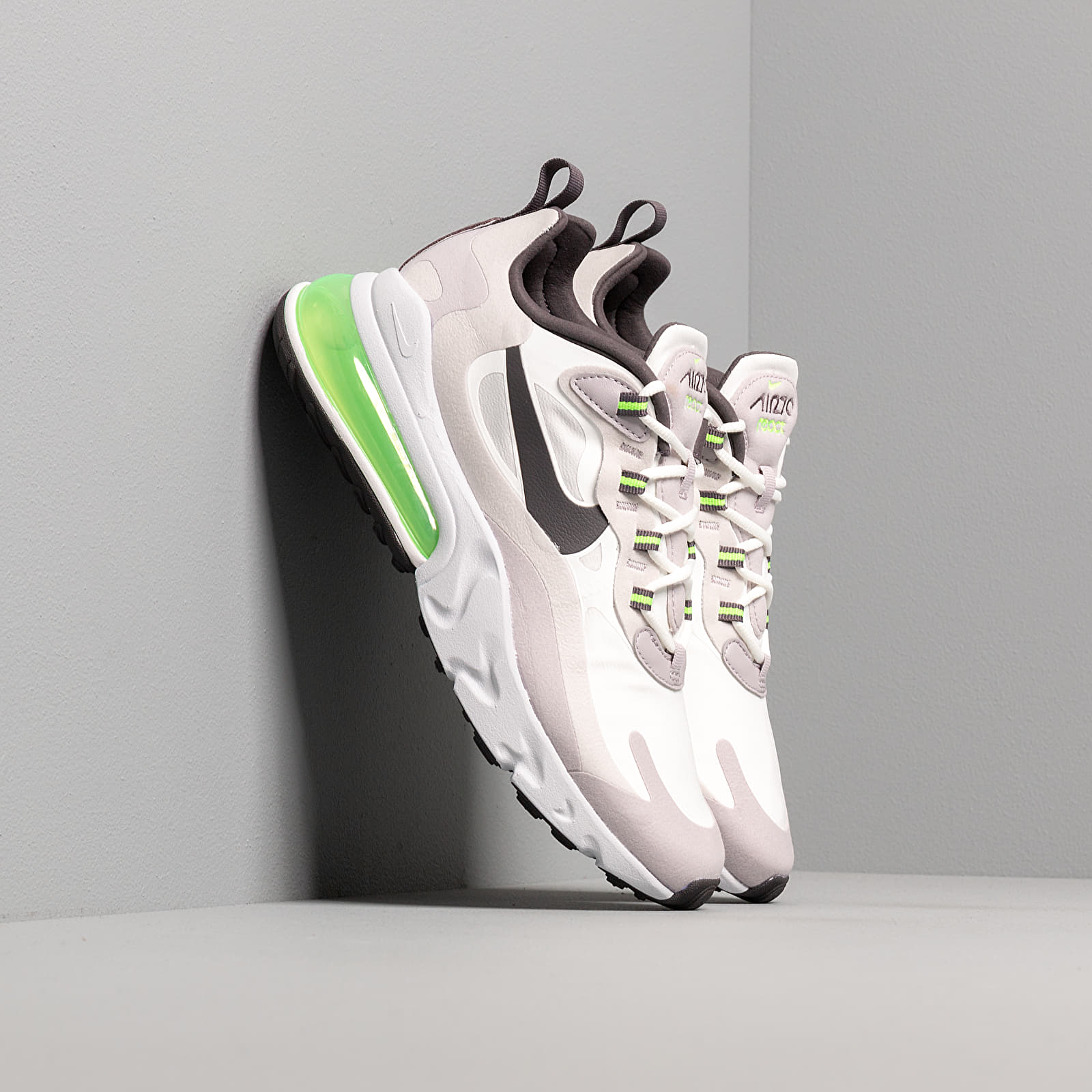 Chaussures et baskets homme Nike Air Max 270 React Summit White/ Electric Green-Vast Grey