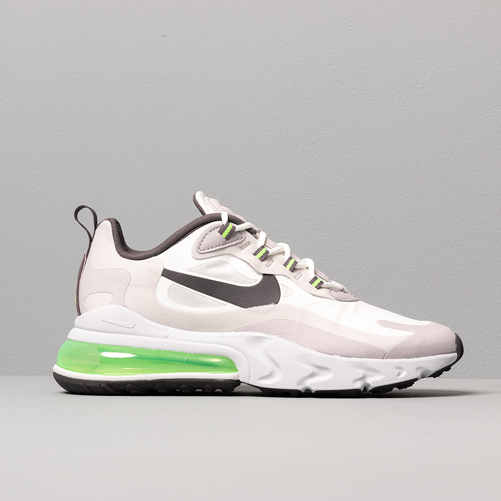 Nike Air Max 270 React Summit White Electric Green Vast Grey | Footshop