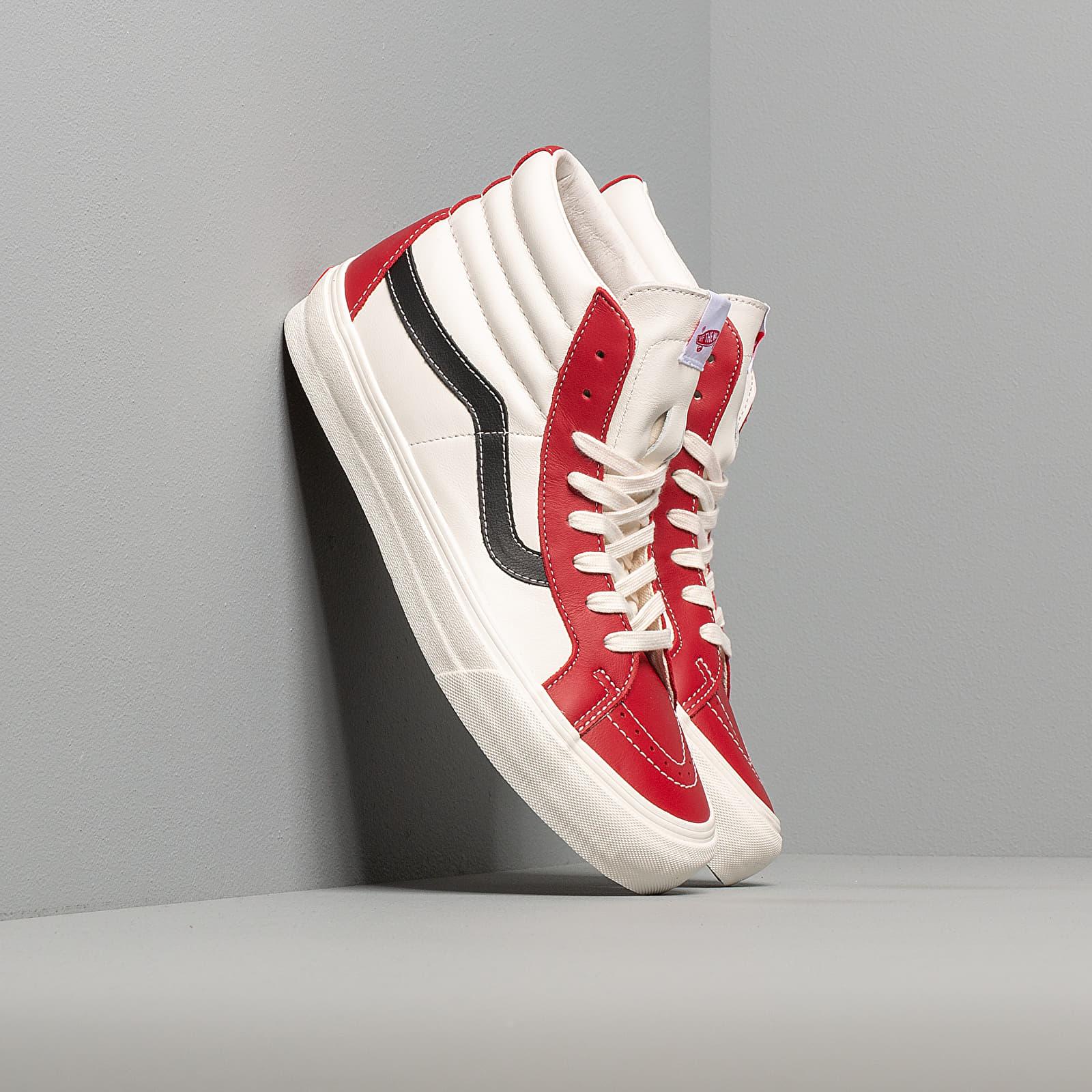 Men's shoes Vans Sk8-Hi Reissue Vl (Leather) Chilli Pepper/ Marshmallow/ Black