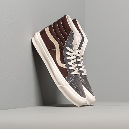 Vans OG Sk8 Hi LX (Suede Canvas) Brown Grey