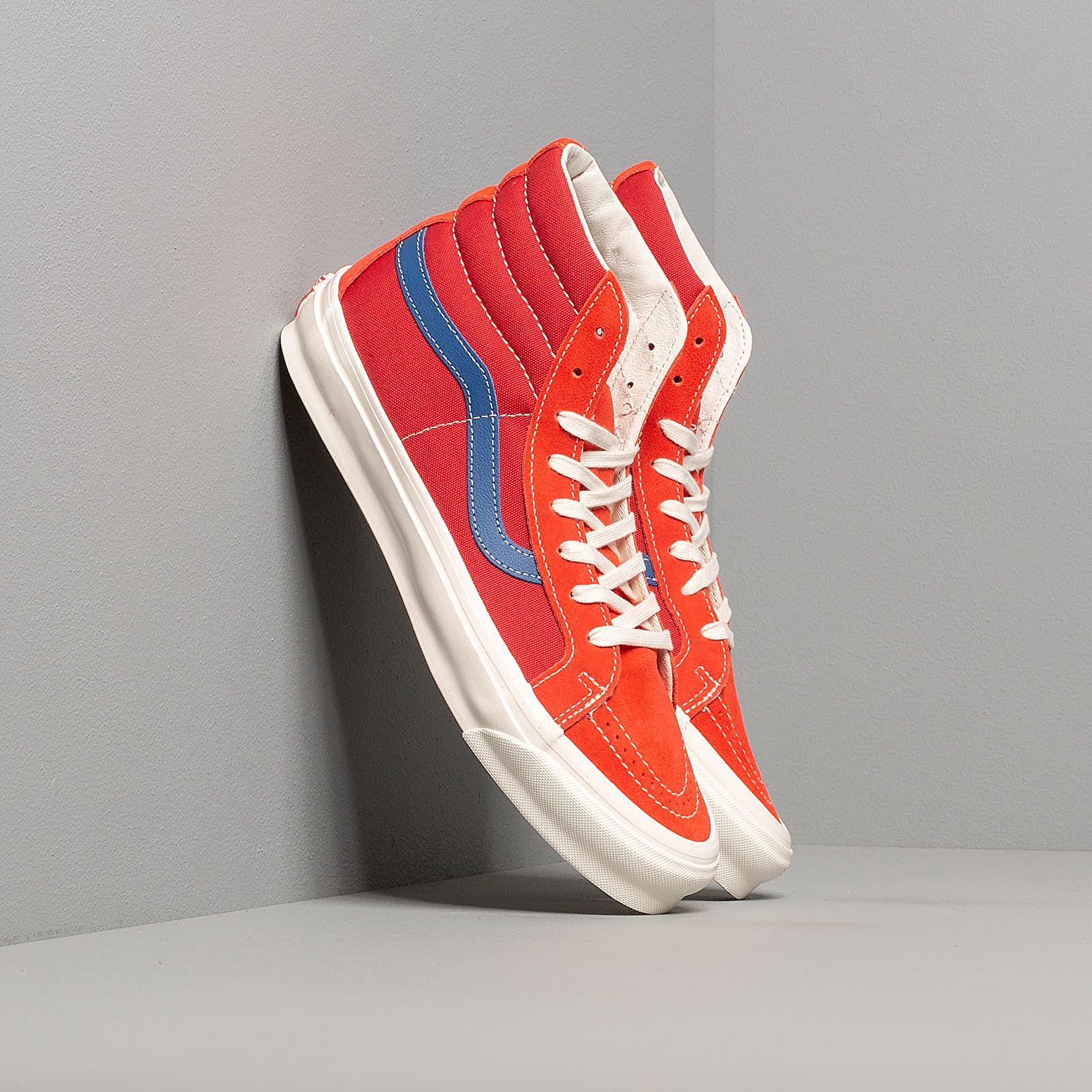 Männer Vans OG Sk8-Hi LX (Suede/ Canvas) Red/ Blue