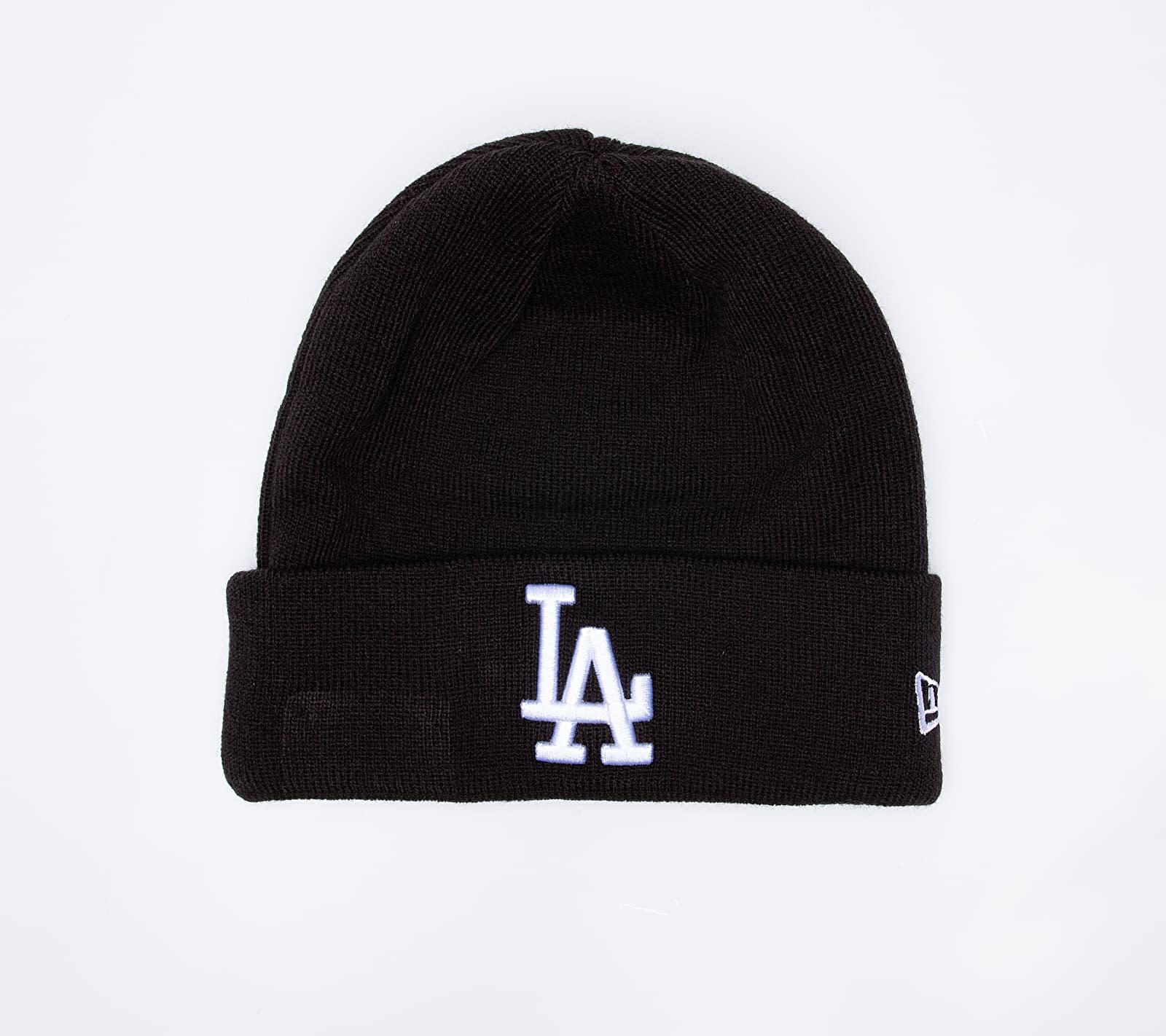 New Era MLB Essential Cuff Los Angeles Dodgers Beanie Black univerzálna