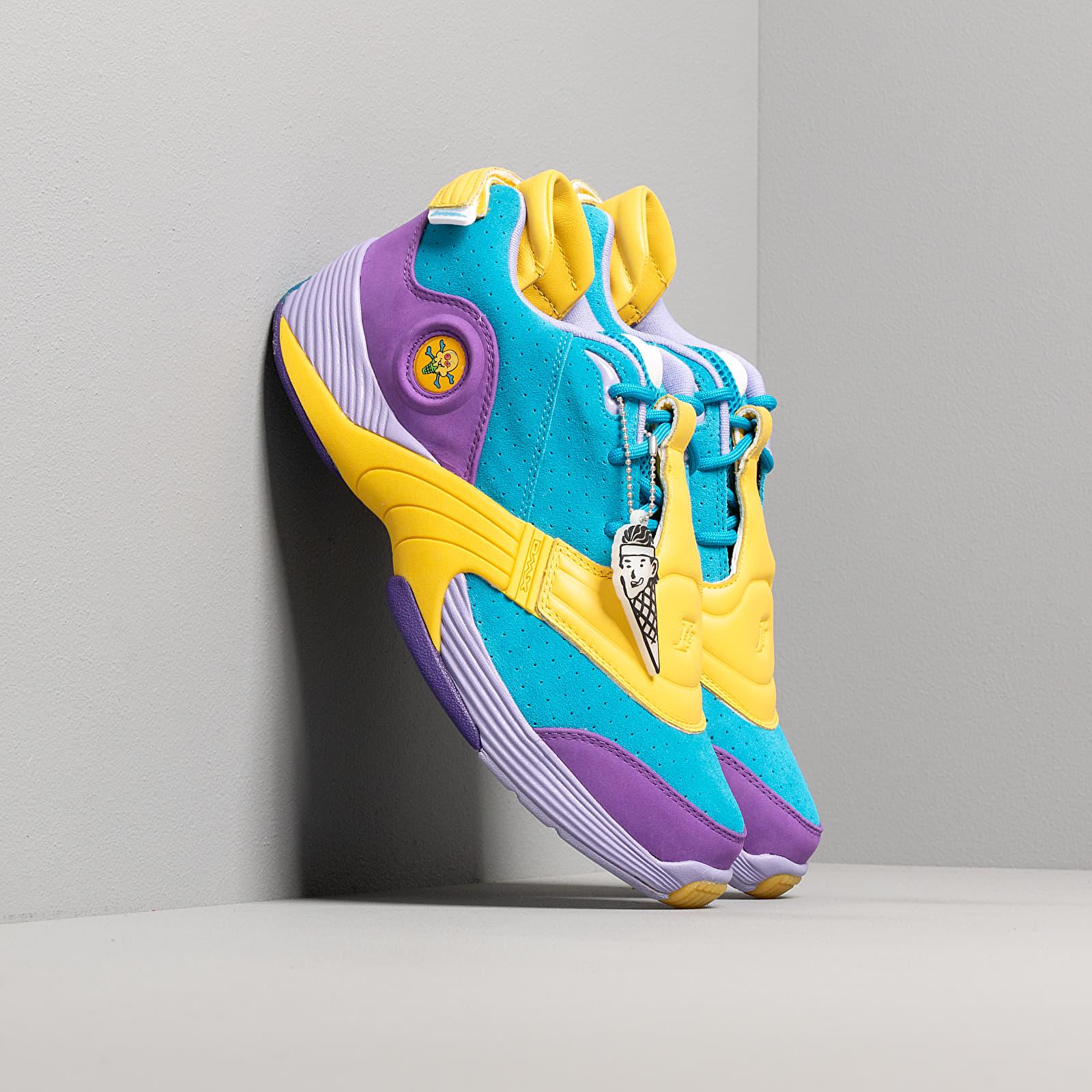 Încălțăminte și sneakerși pentru bărbați Reebok x Billionaire Boys Club Answer V MU Malibu Blue/ Regal Purple/ Boldly Yellow