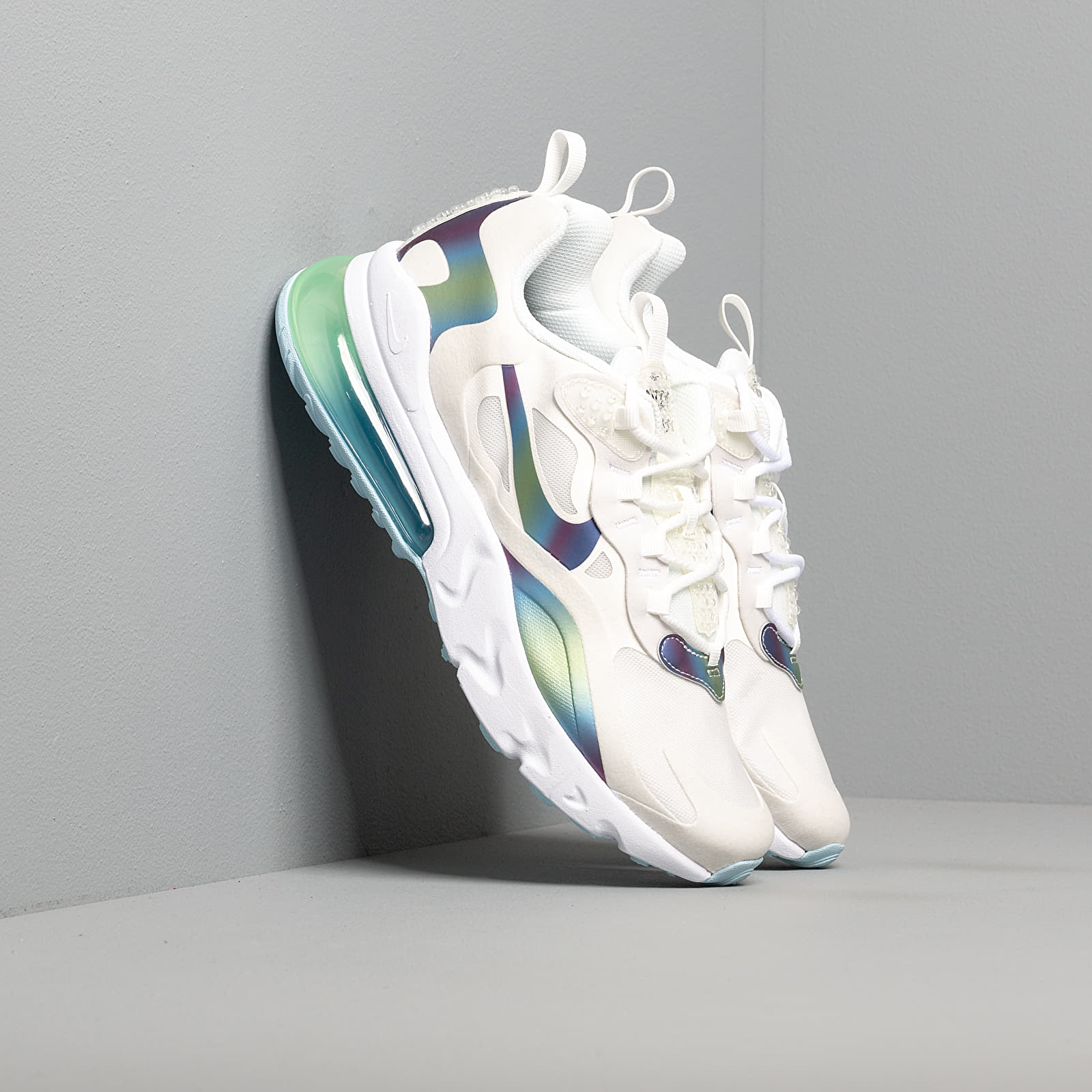 Zapatillas de niño Nike Air Max 270 React 20 (GS) Summit White/ Multi-Color-Platinum Tint