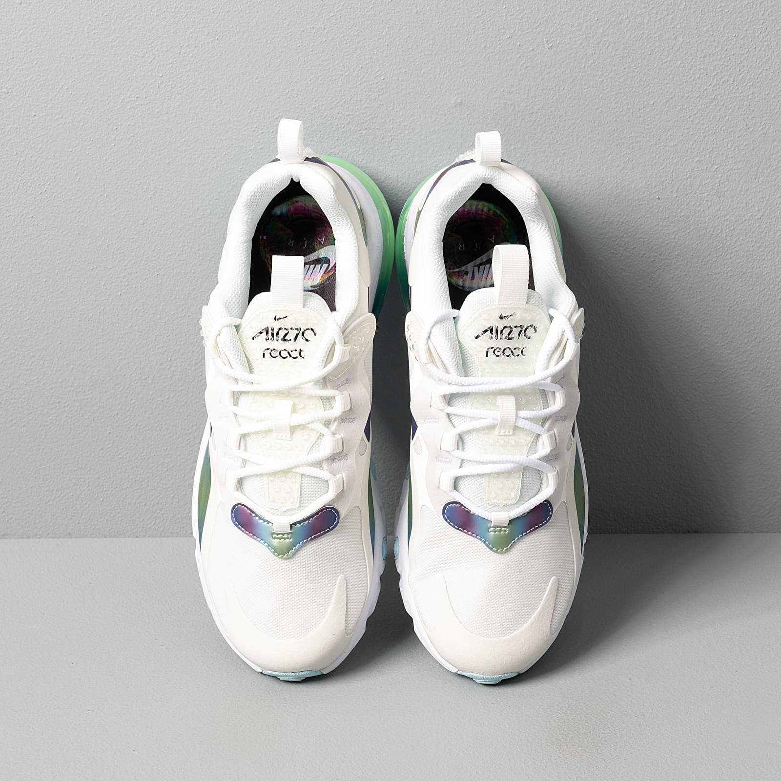 Nike Air Max 270 React 20 (GS) Summit White Multi Color Platinum Tint | Footshop