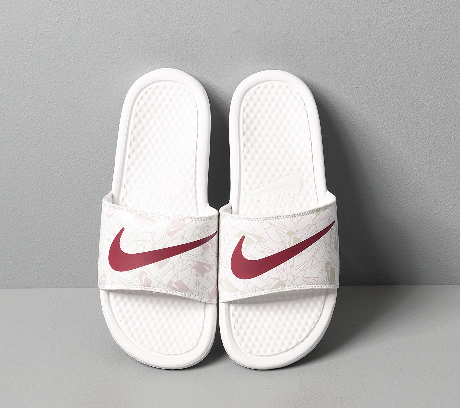 Nike Wmns Benassi Jdi Print Summit White/ Spruce Aura-Iced Lilac