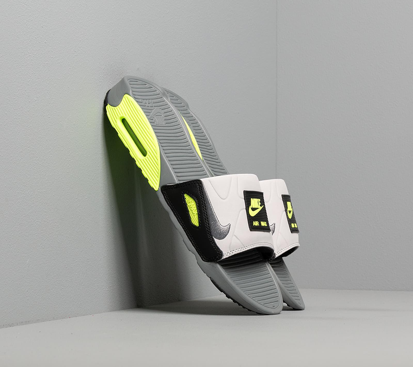 Nike Wmns Air Max 90 Slide Smoke Grey/ Smoke Grey-Volt-Black EUR 36.5
