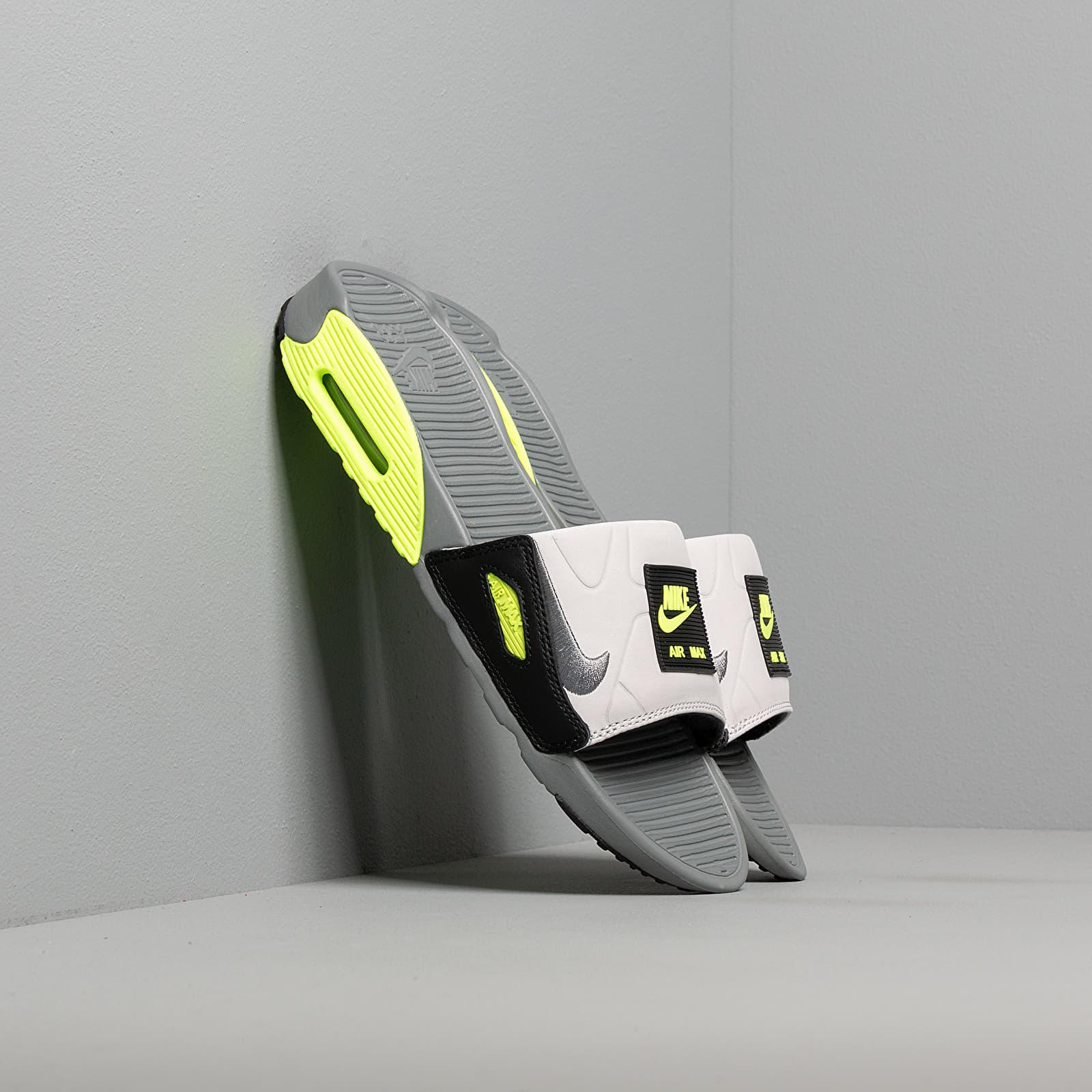 Dámské tenisky a boty Nike Wmns Air Max 90 Slide Smoke Grey/ Smoke Grey-Volt-Black