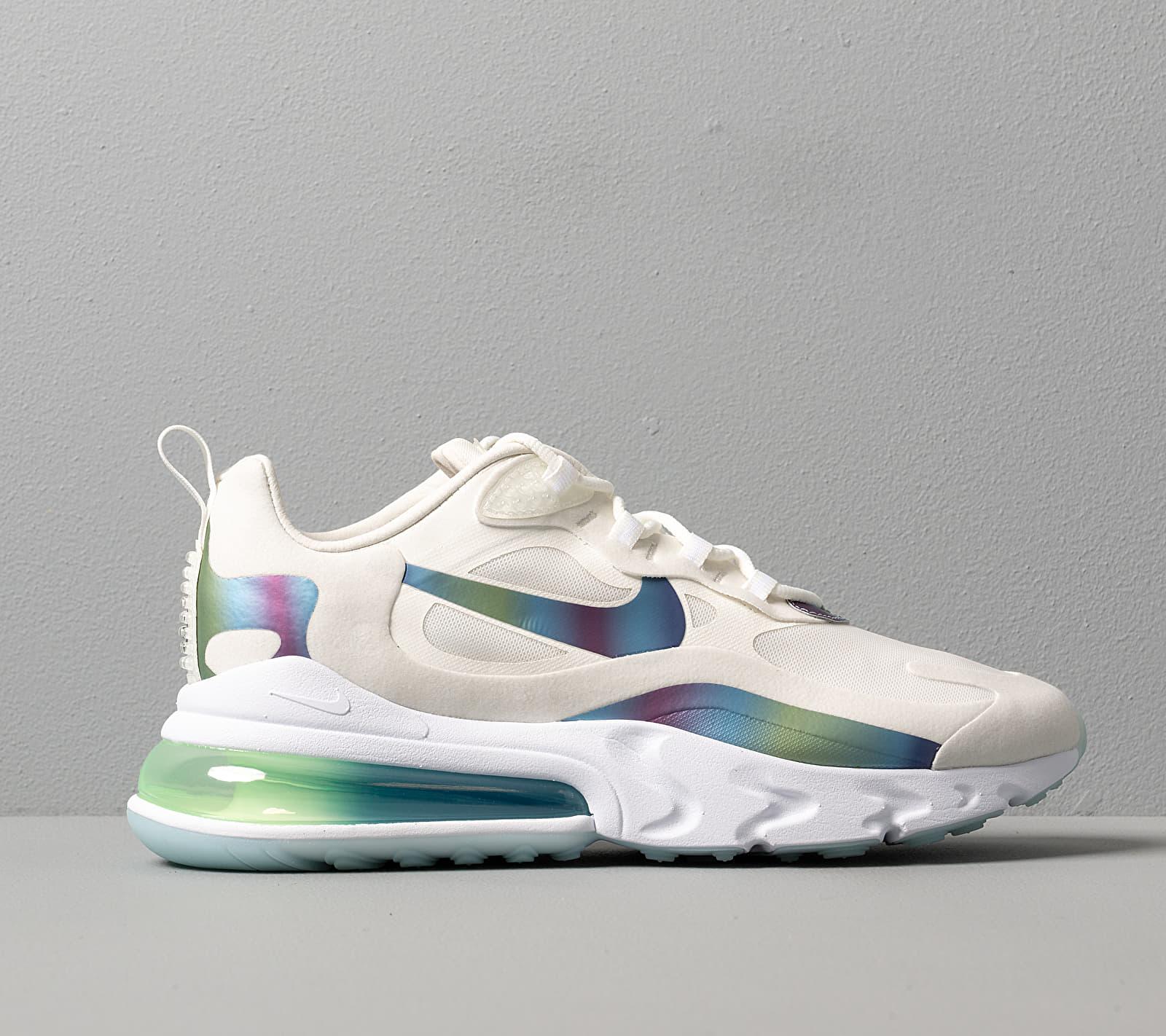 Nike Air Max 270 React 20 Summit White/ Multi-Color-Platinum Tint