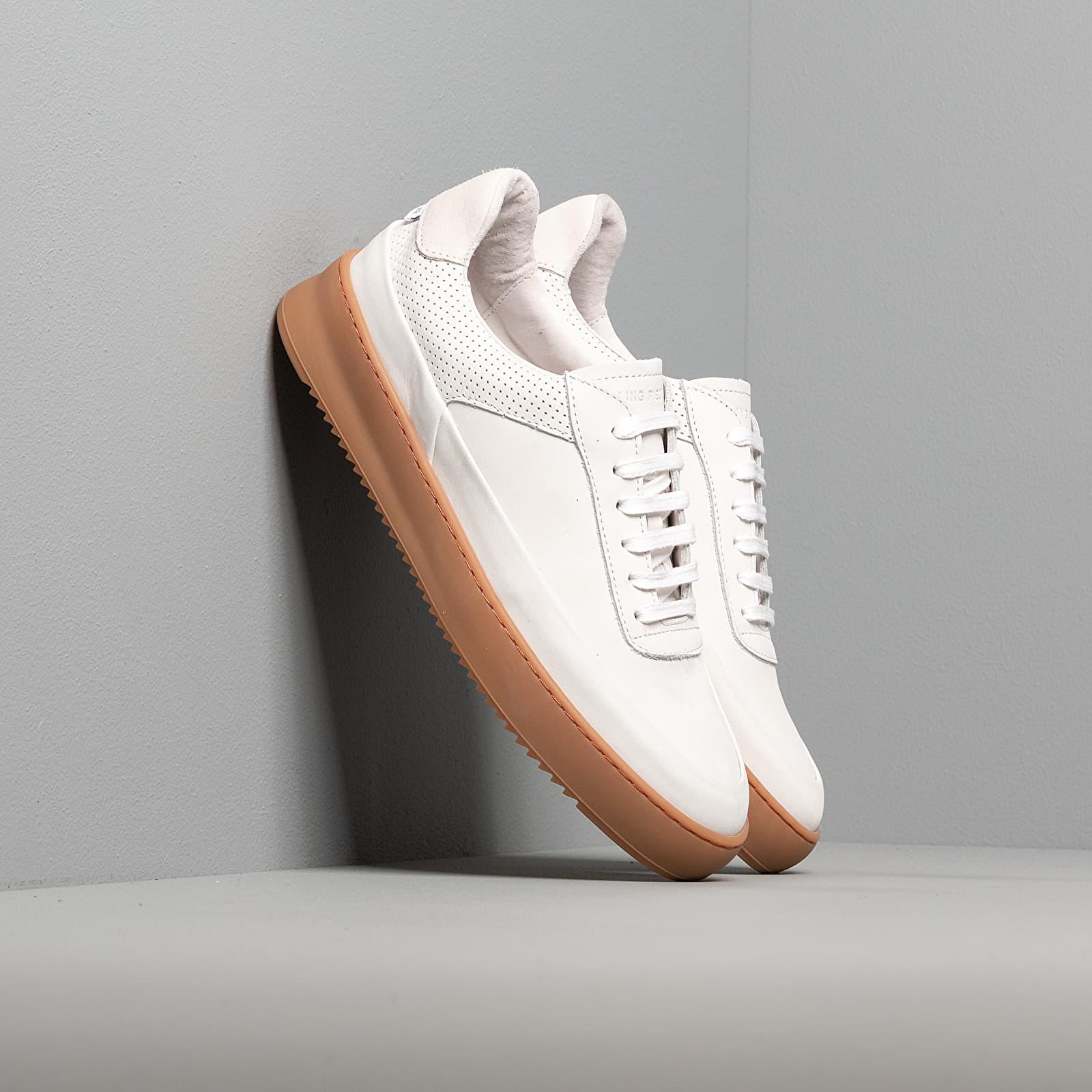 Scarpe e sneaker da uomo Filling Pieces Mono Ripple Gum White
