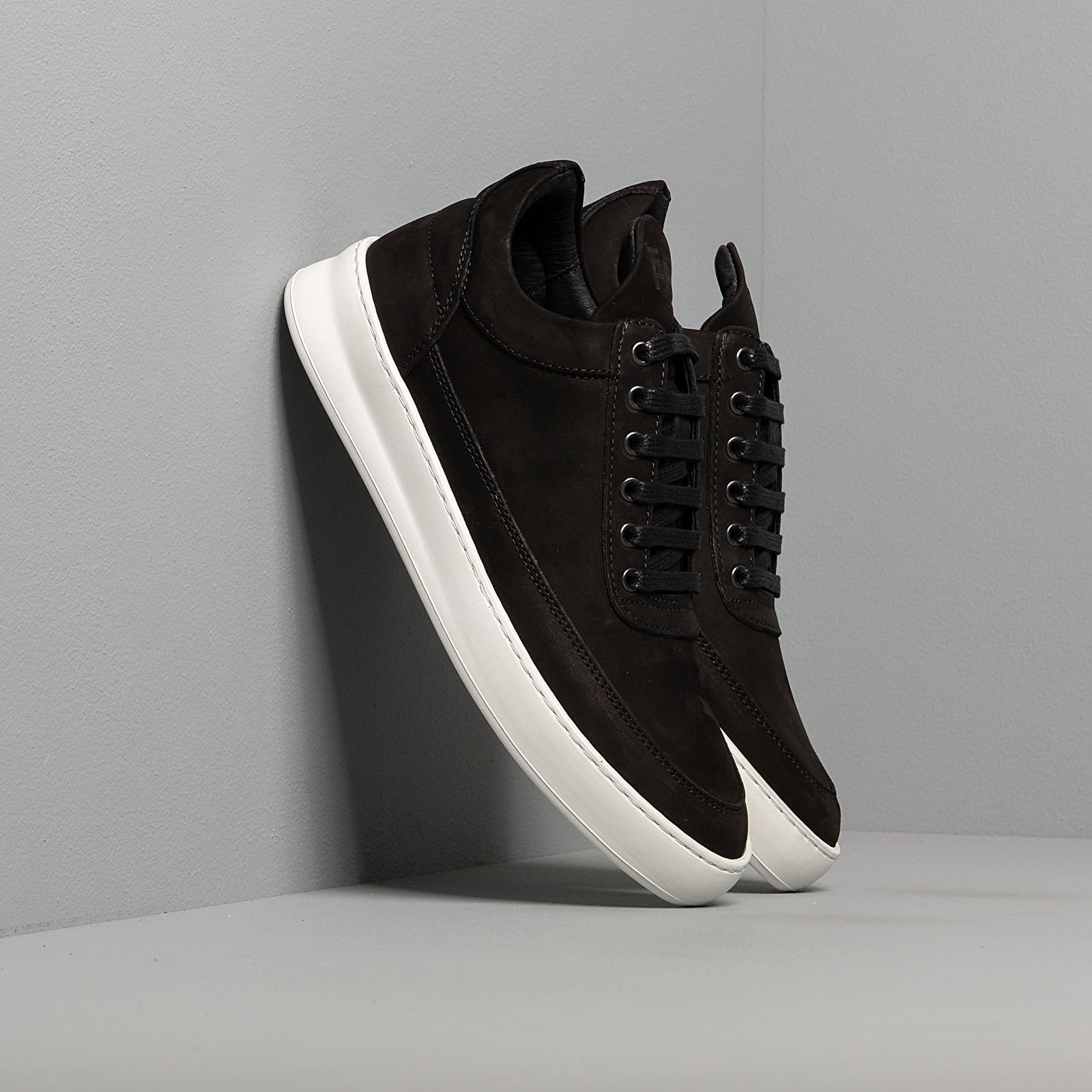 Men's shoes Filling Pieces Low Top Plain Lane Nubuck Black