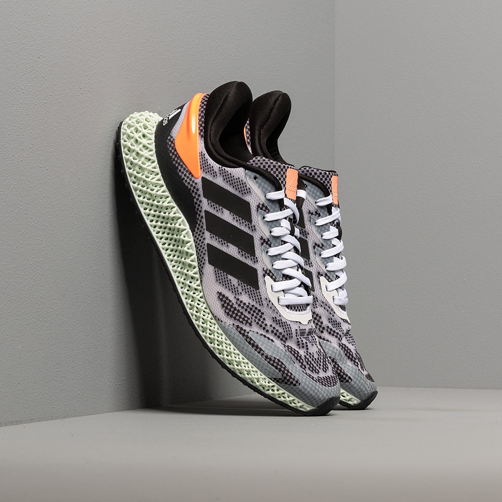 Men's shoes adidas 4D Run 1.0 Ftw White/ Core Black/ Signature Coral