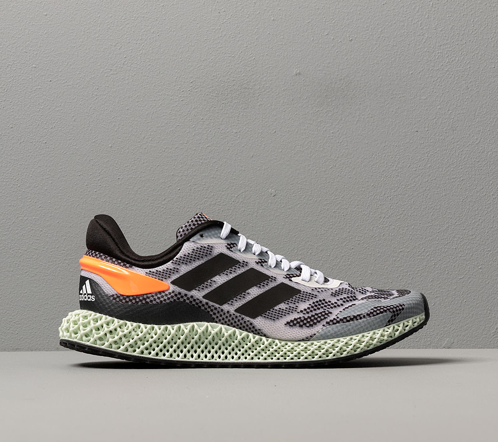 adidas 4D Run 1.0 Ftw White/ Core Black/ Signature Coral, Gray
