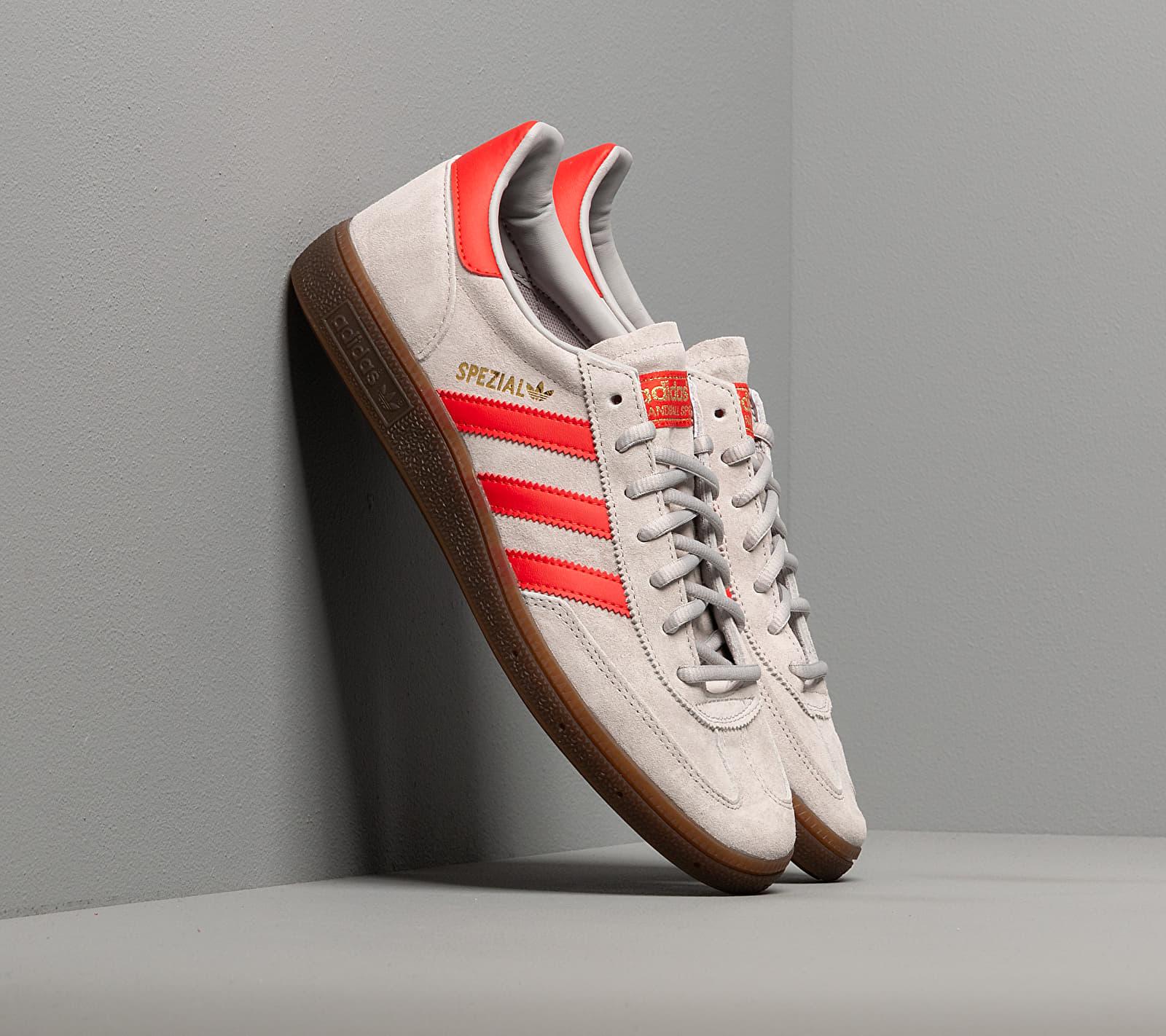 adidas Handball Spezial Grey Two/ Hi-Res Red/ Gold Metalic EUR 45 1/3