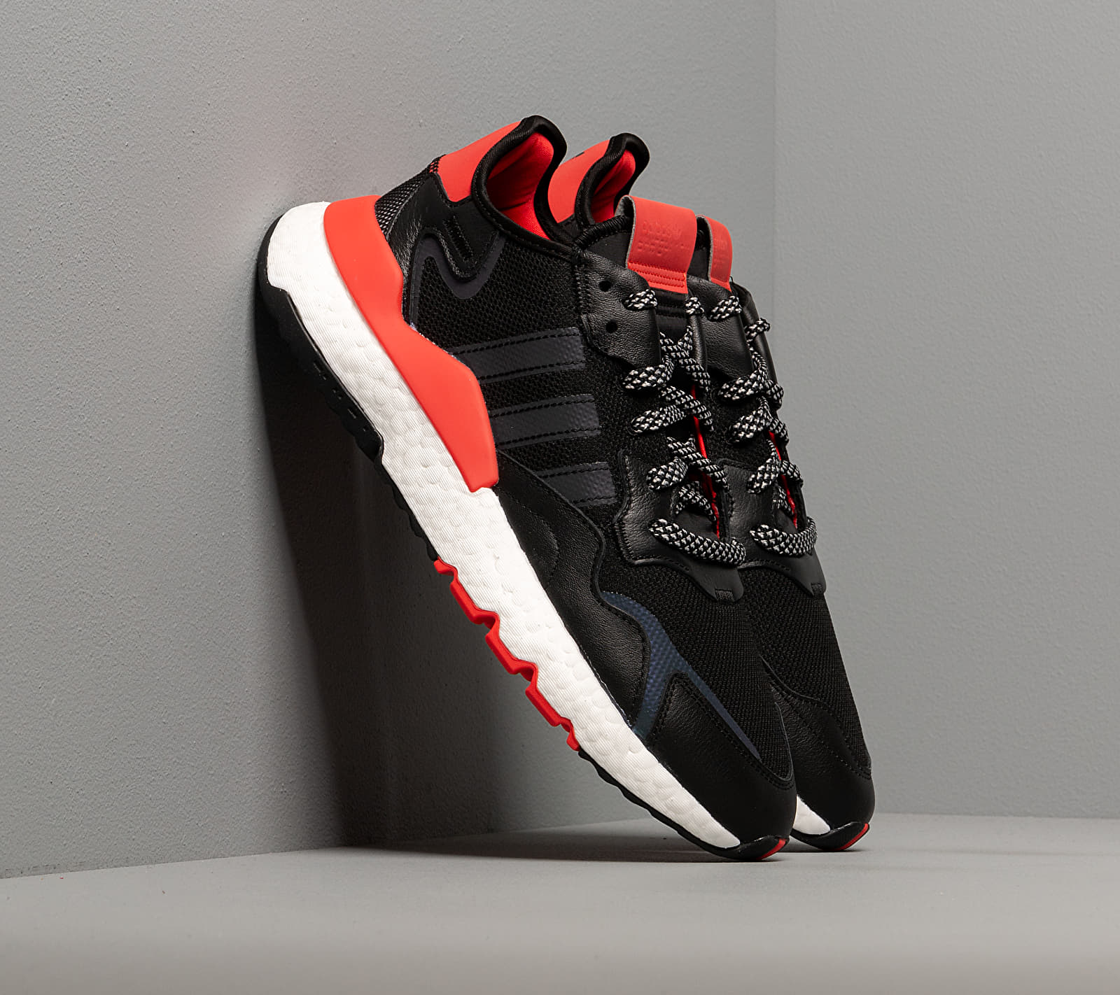 adidas Nite Jogger Core Black/ Ftw White/ Hi-Res Red EUR 41 1/3
