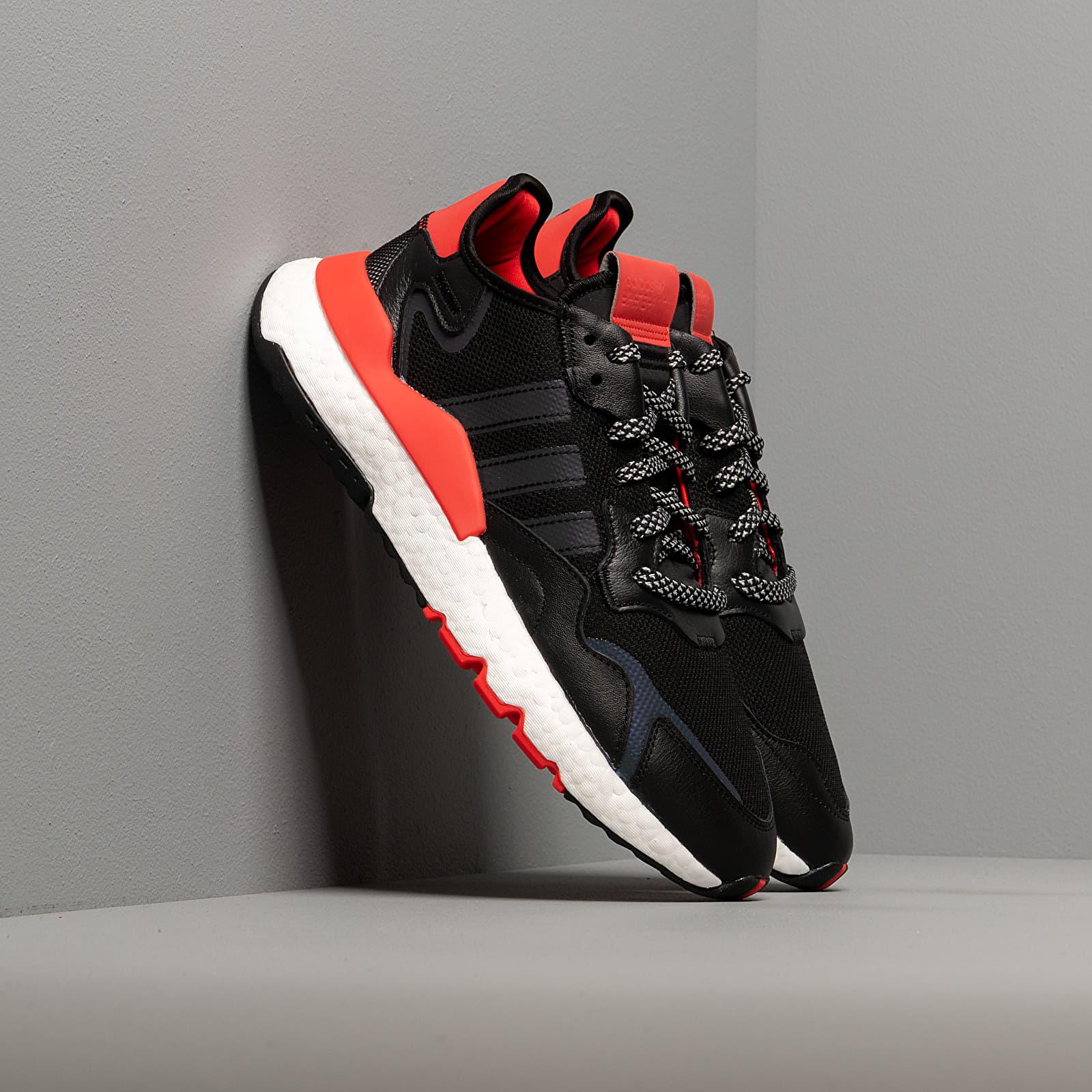Men's shoes adidas Nite Jogger Core Black/ Ftw White/ Hi-Res Red