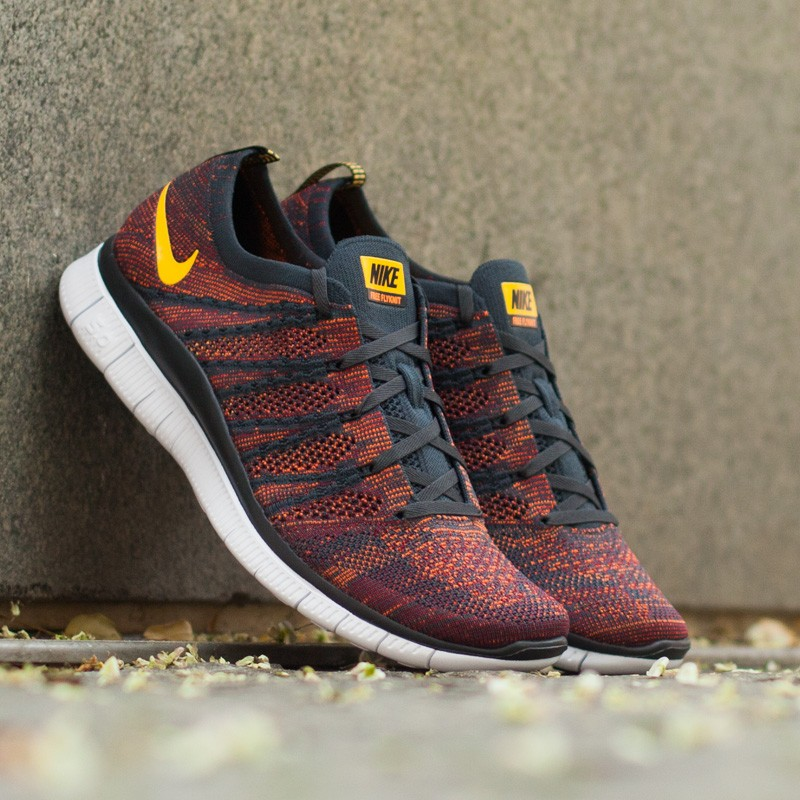 new arrival 5cad8 d5db7 Nike Free Flyknit NSW AnthraciteLaser OrangeGym RedTotal Orange