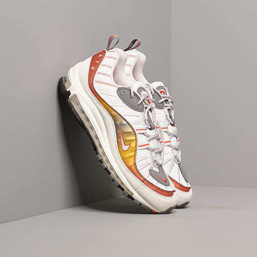 fragancia Si oro  Men's shoes Nike Air Max 98 Se Vast Grey/ Summit White-Team Orange |  Footshop