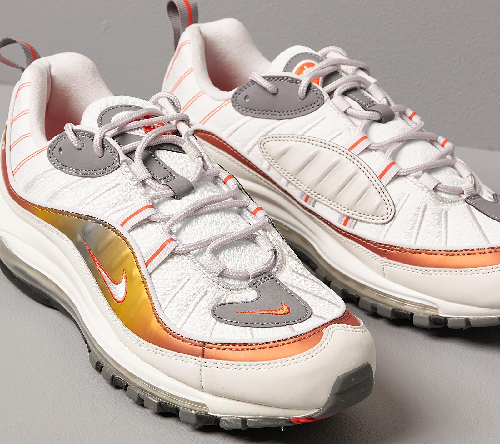 Nike Air Max 98 Se Vast Grey/ Summit White-Team Orange, Gray