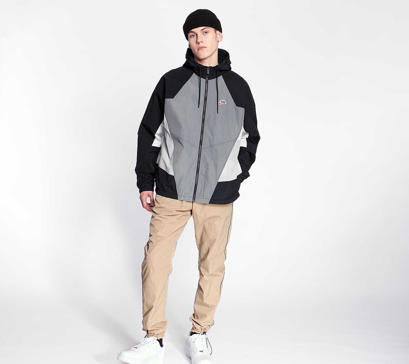 Nike Sportswear HE Wr Woven Signature Jacket Smoke Grey/ Black/ Light Smoke Grey, Gray