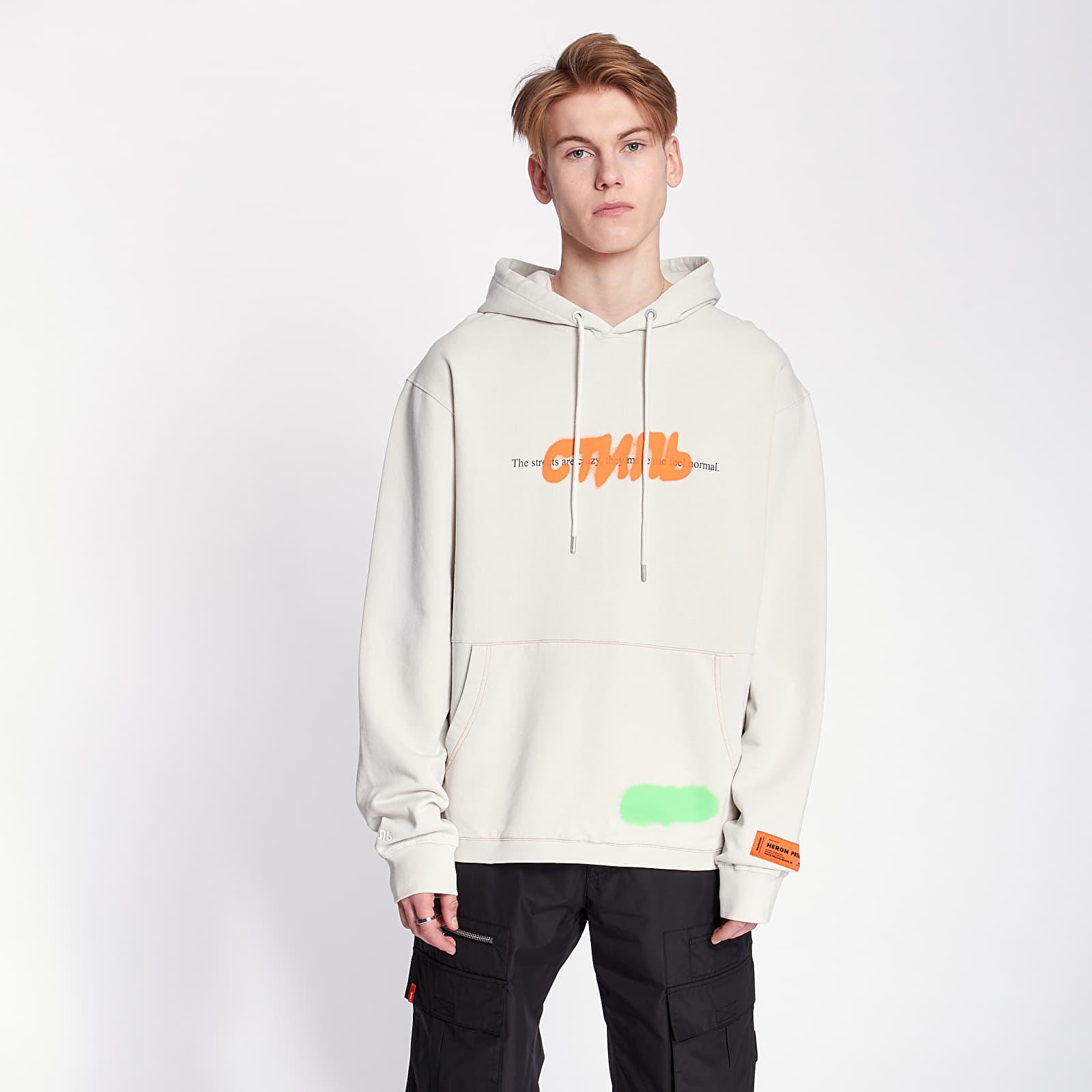 Sweatshirts HERON PRESTON Spray Hoodie Grey