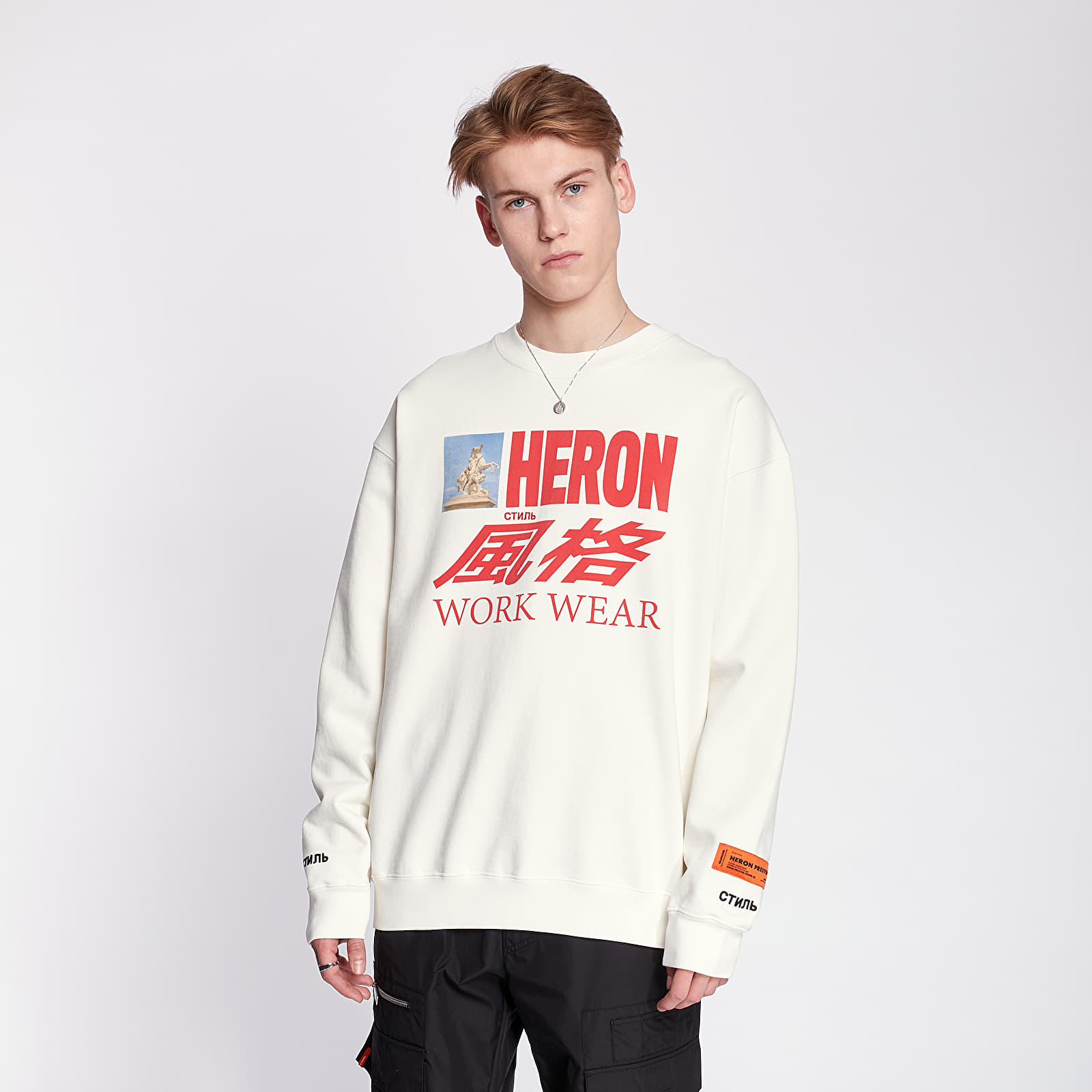 Sweatshirts HERON PRESTON Horse Heron Crewneck White/ Multicolor