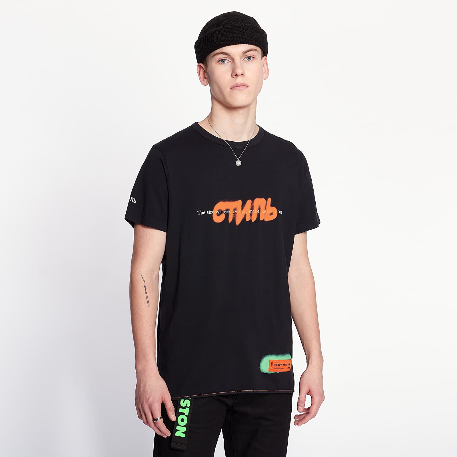 T-shirts HERON PRESTON Spray Tee Black