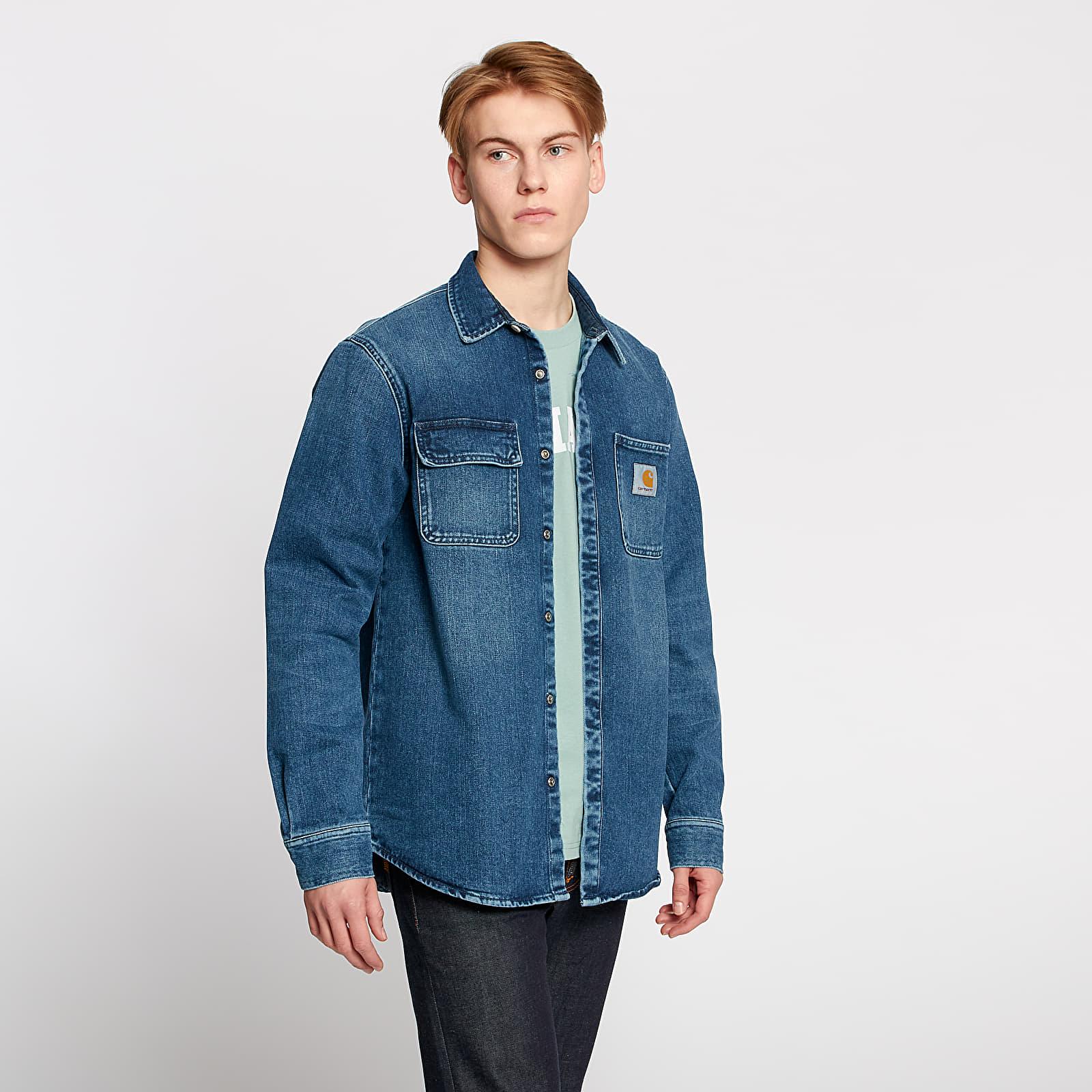 Košile Carhartt WIP Salinac Jacket Shirt Blue