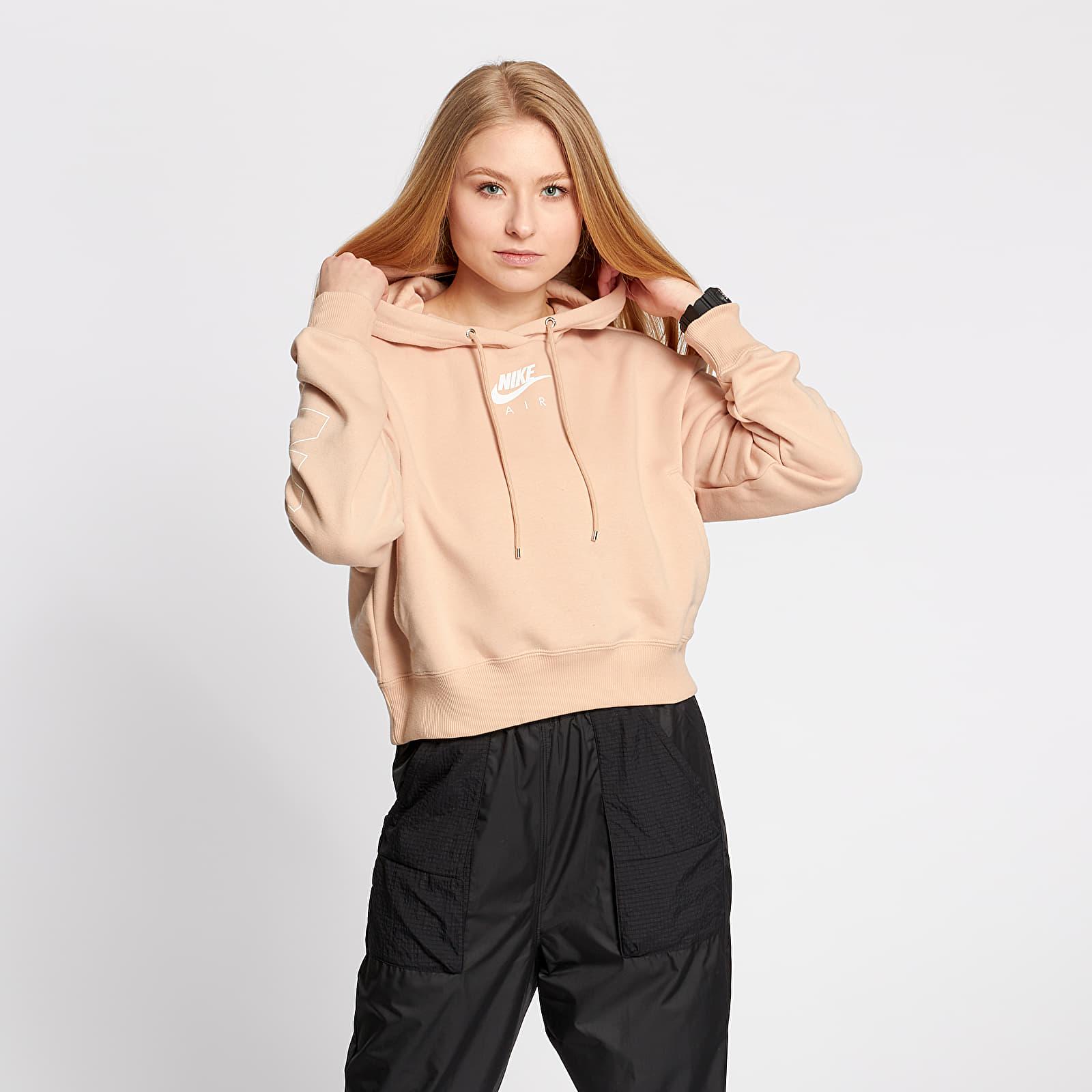 Kapucnis pulcsik Nike Sportswear Air Fleece BB Hoodie Shimmer/ Ice Silver