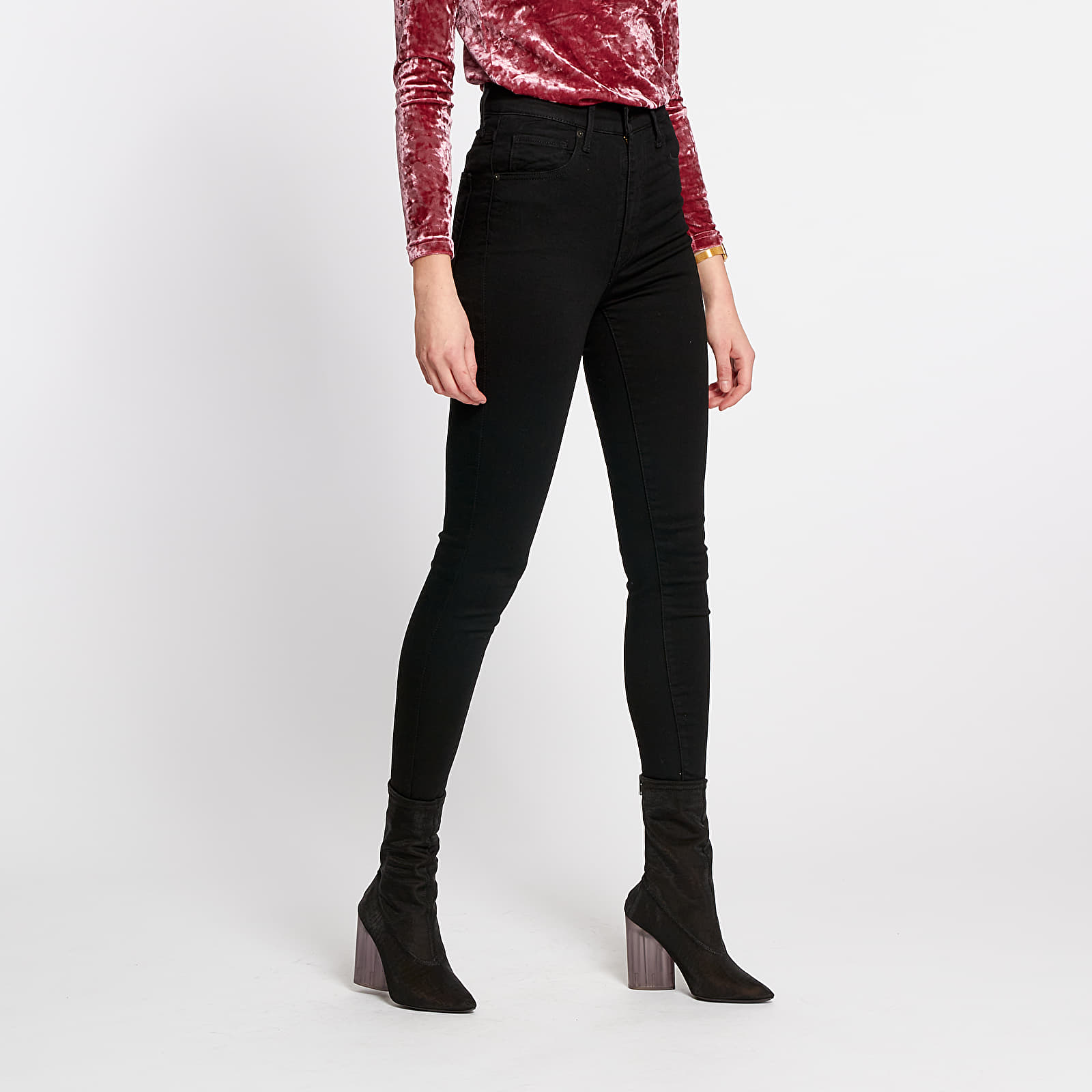 Pants and jeans Levi's Mile High Super Skinny Jeans Black