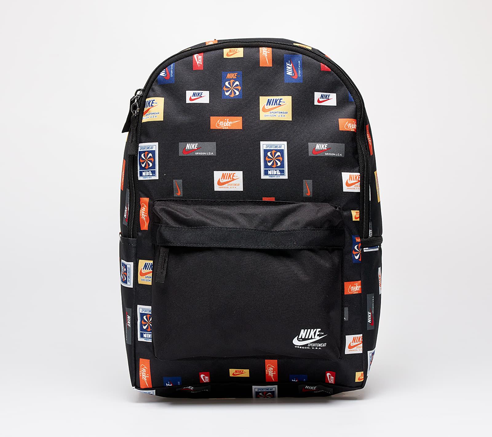 Nike Heritage Backpack-2.0 Just Do It Black/ Black/ White Univerzálna veľkosť