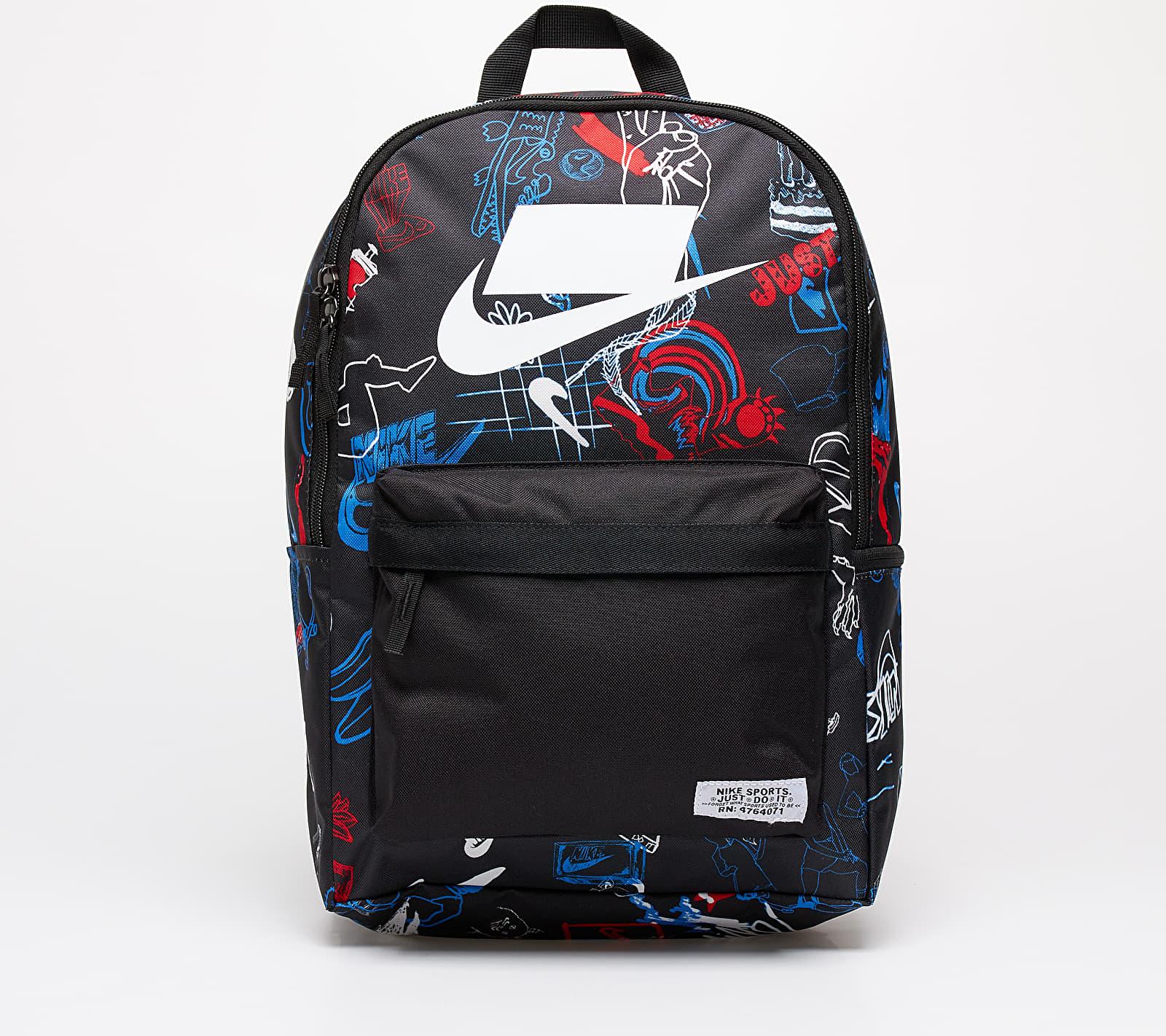 Nike Heritage Backpack - 2.0 SP AOP Black/ Black/ White 25 litrov