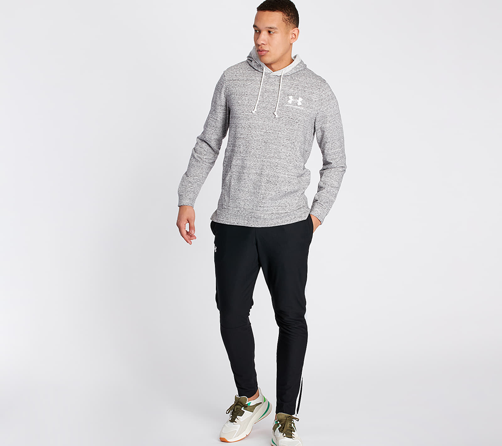 Under Armour Sportstyle Terry Hoodie Grey, Gray