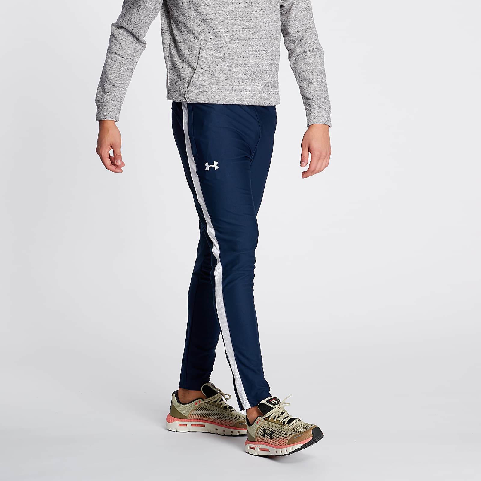 Pantalones Under Armour Sportstyle Pique Track Pants Academy/ White